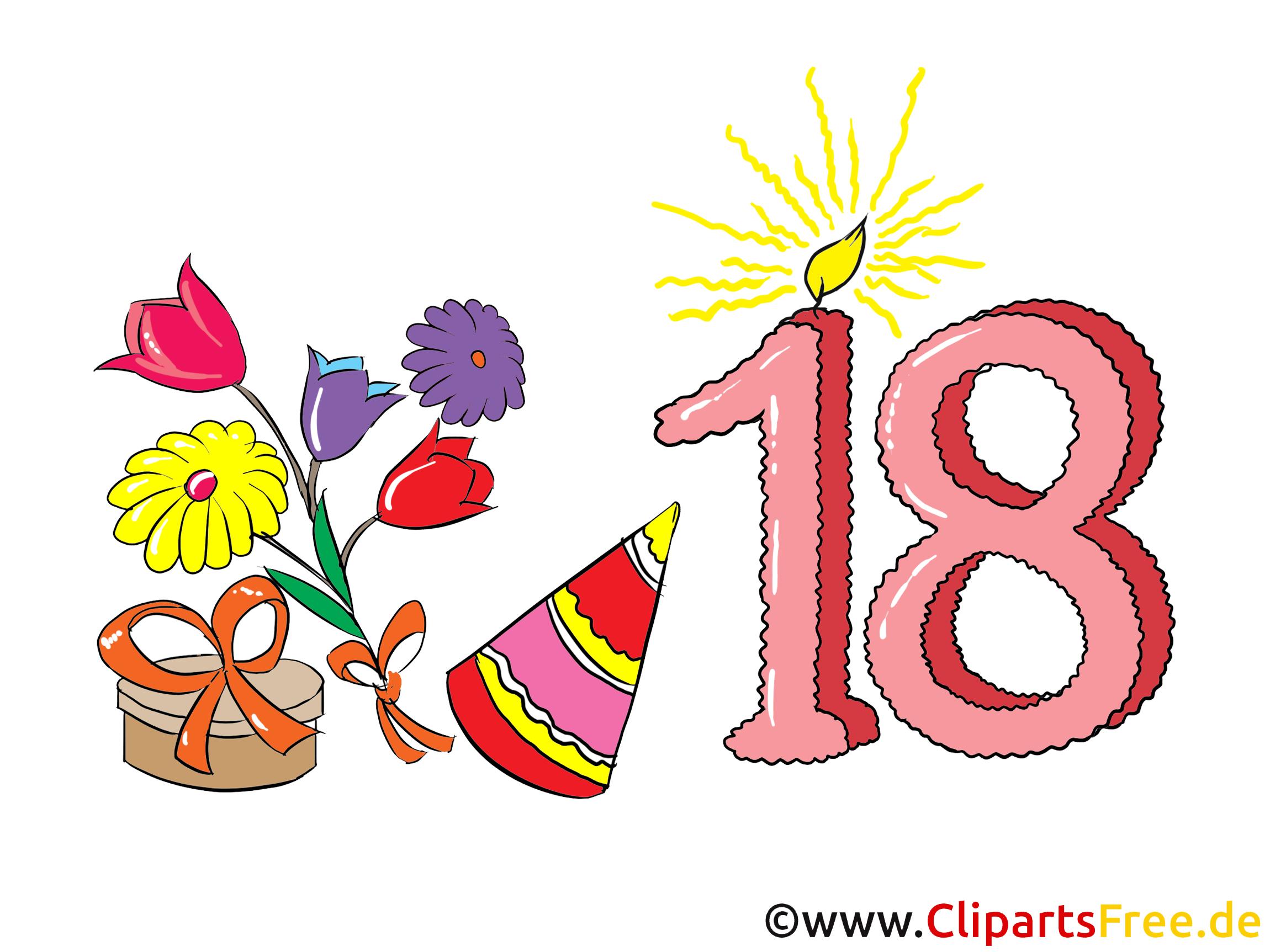 Happy Birthday 18 Karte