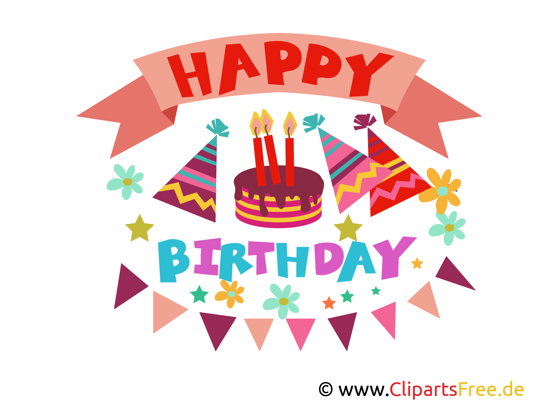 Happy Birthday Bilder, Cliparts, Illustrationen