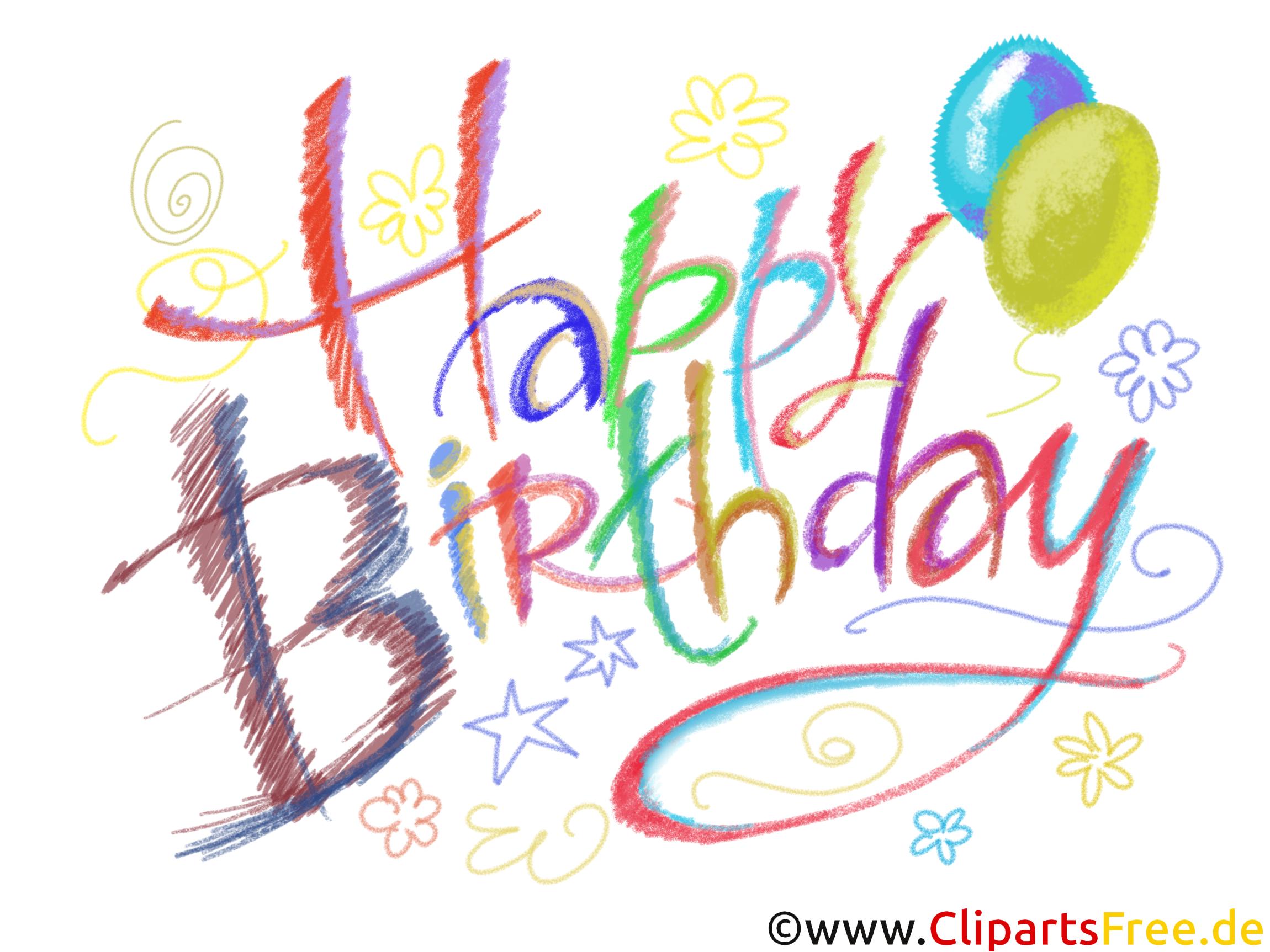 Happy Birthday Bunter Überschrift
