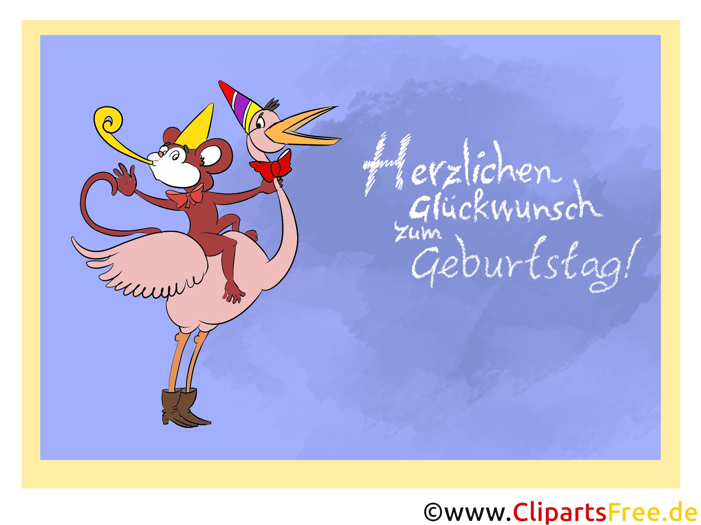 Herzlichen Glückwunsch Zum Geburtstag Clipart, Karte