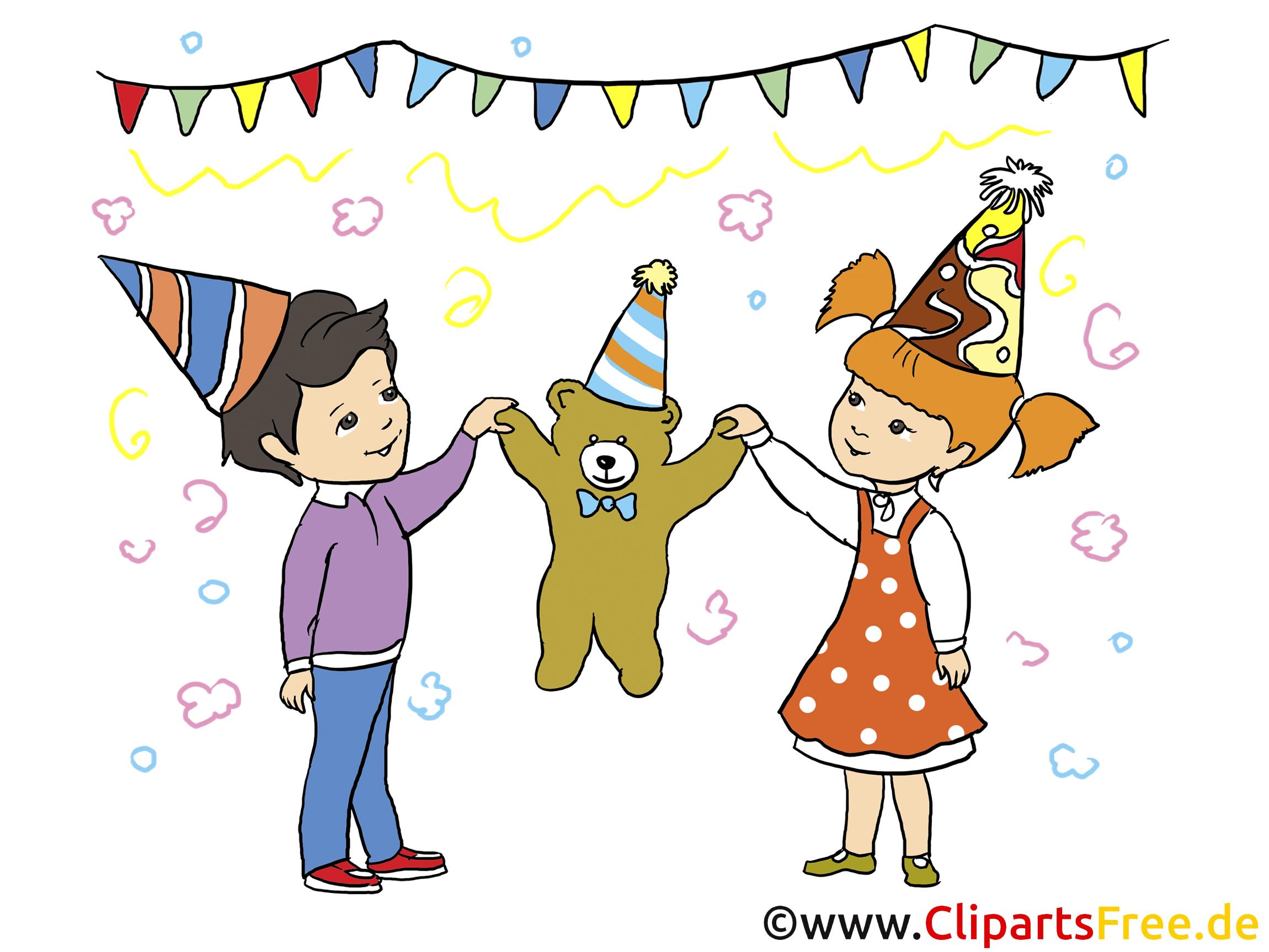 Kindergeburtstag Illustration für Einladungen