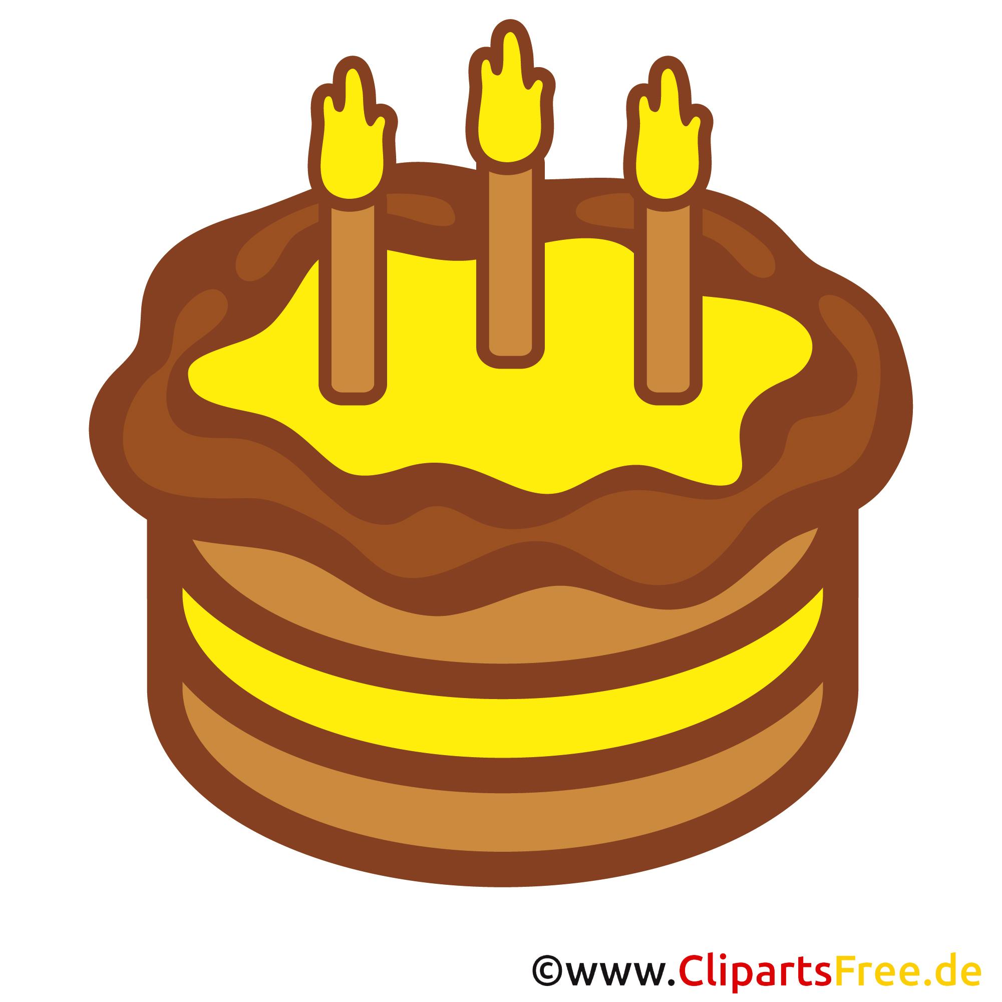 Kostenlose Cliparts zum Geburtstag - Kuchen