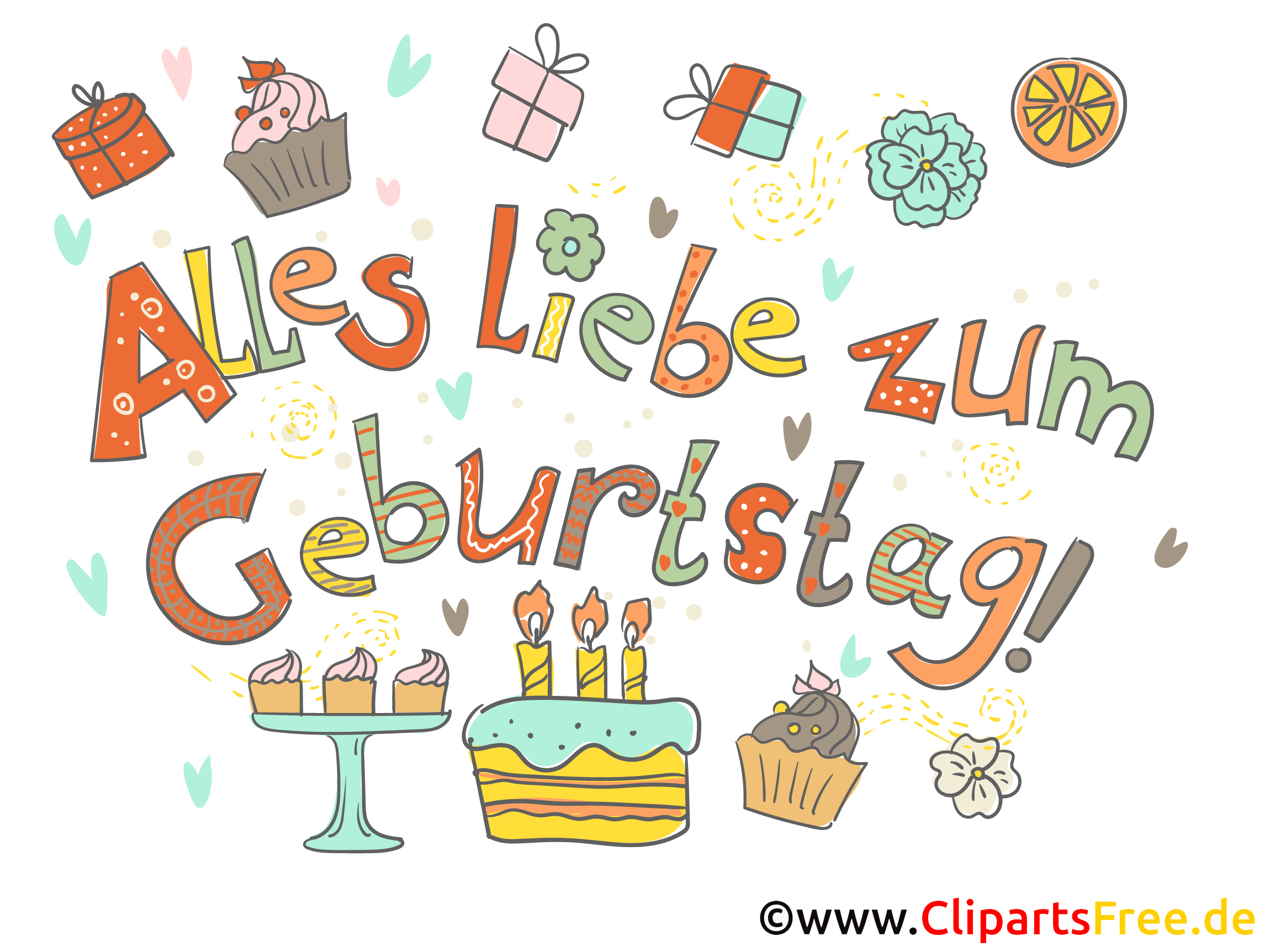 Clipart Alles Liebe zum Geburtstag