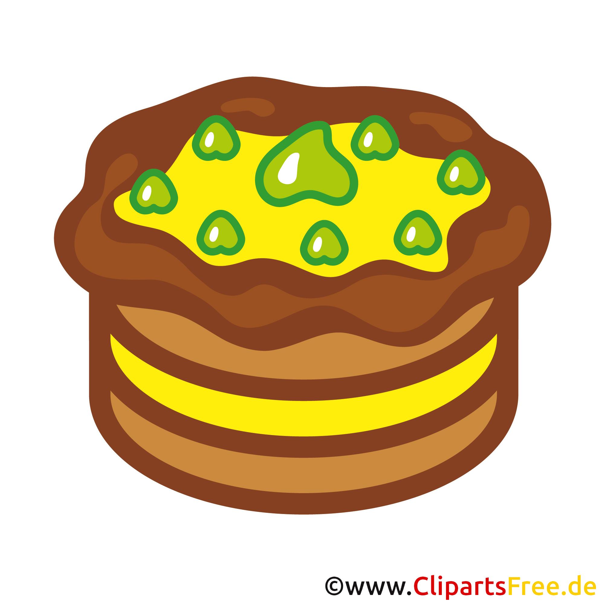 Kuchen Clip Art Bild kostenlos