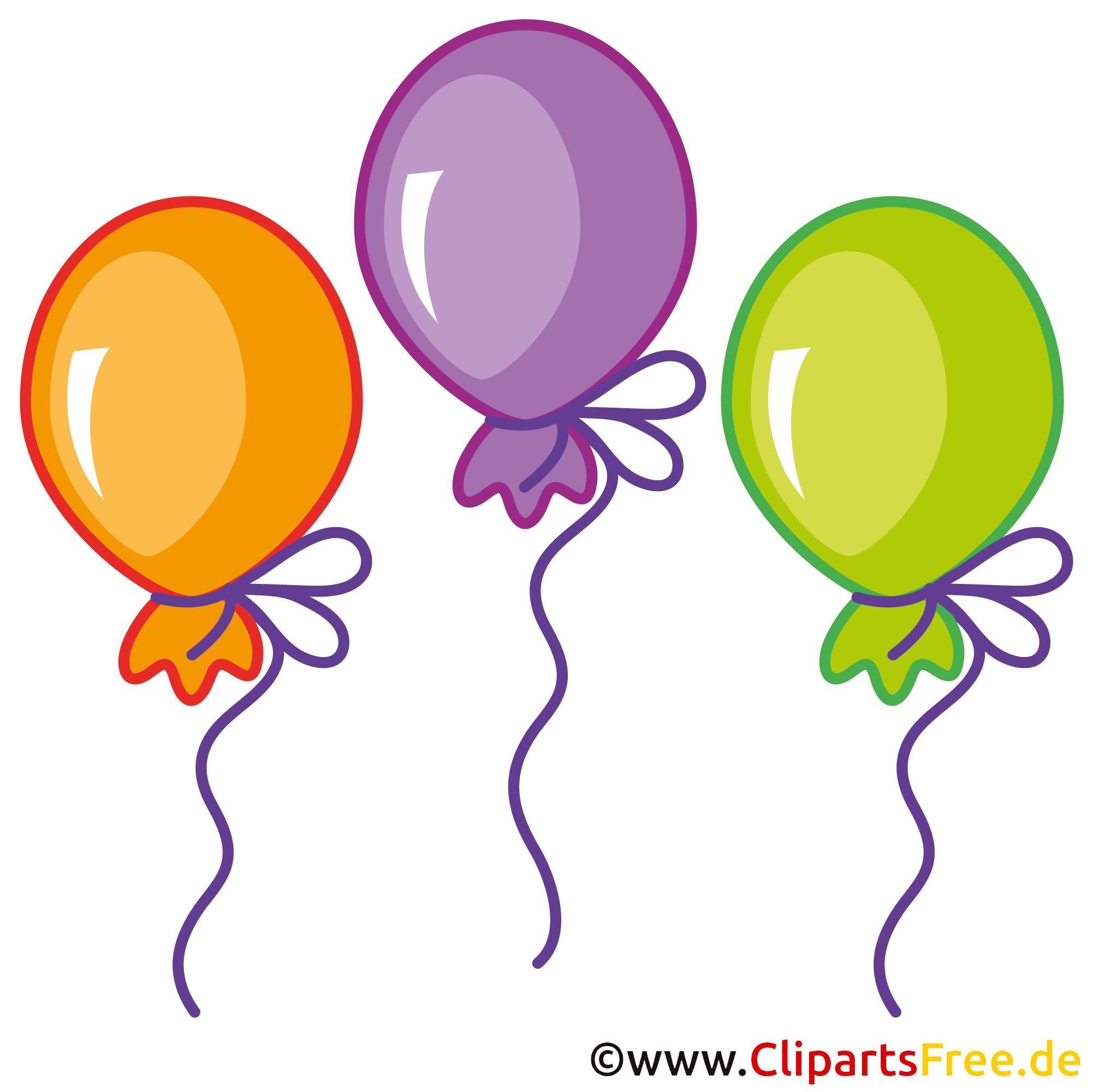 Luftballons Clipart Bild kostenlos