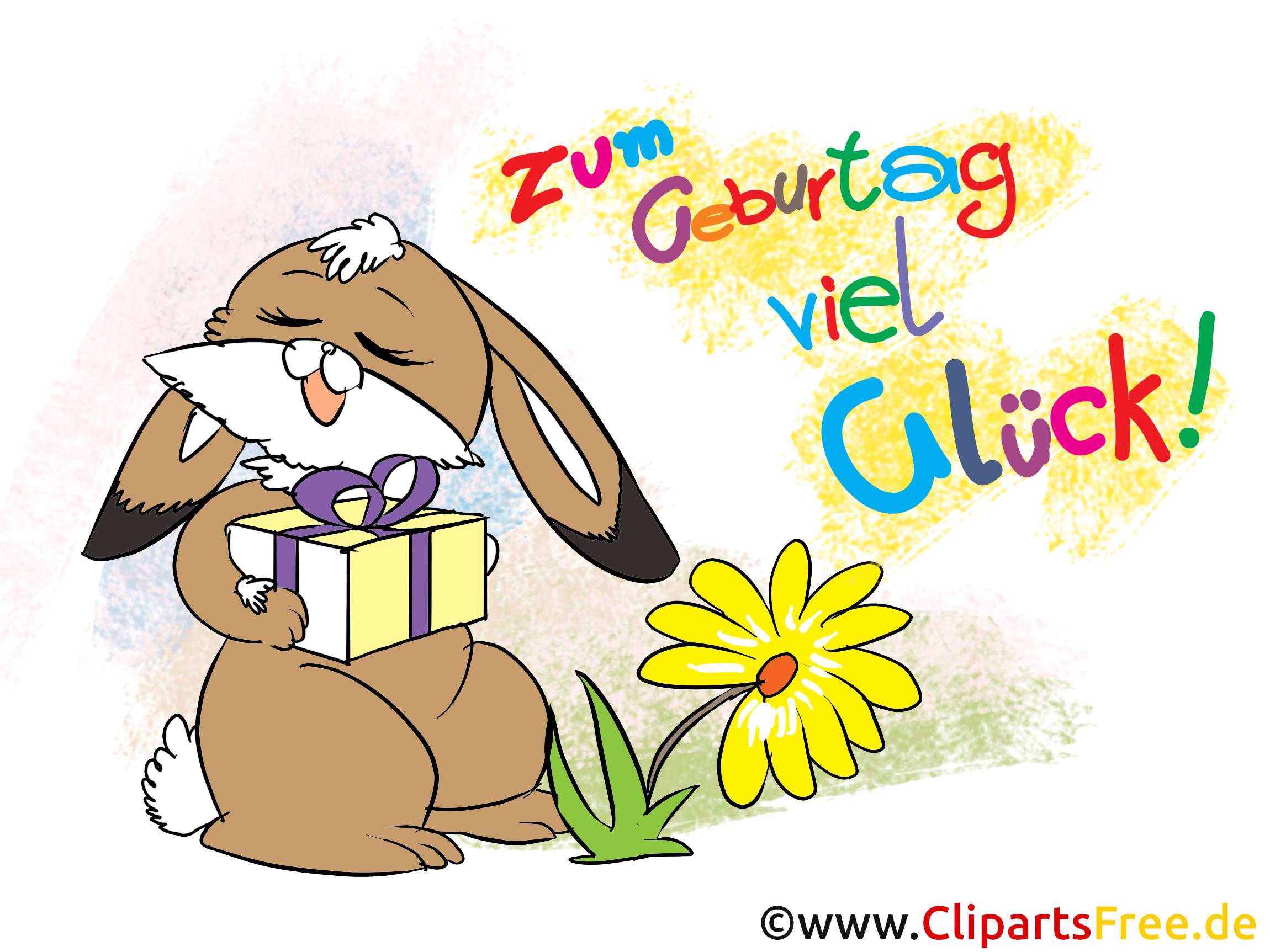Zum Geburtstag viel Glück - Clipart, Bild, Karte