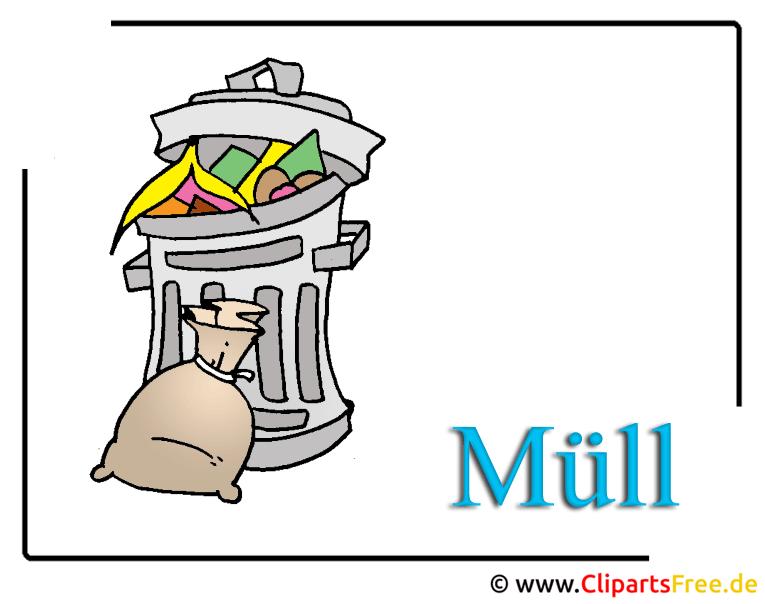 Mülltonne Bild, Clipart, Illustration free