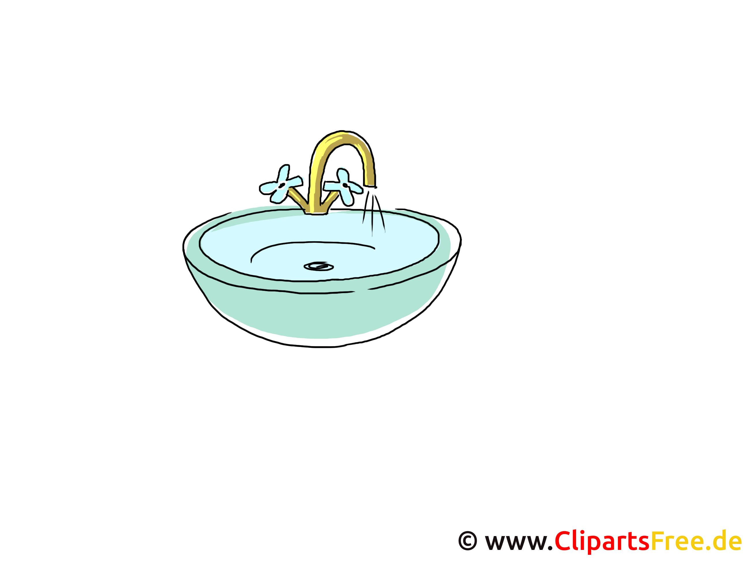 Waschbecken Clipart