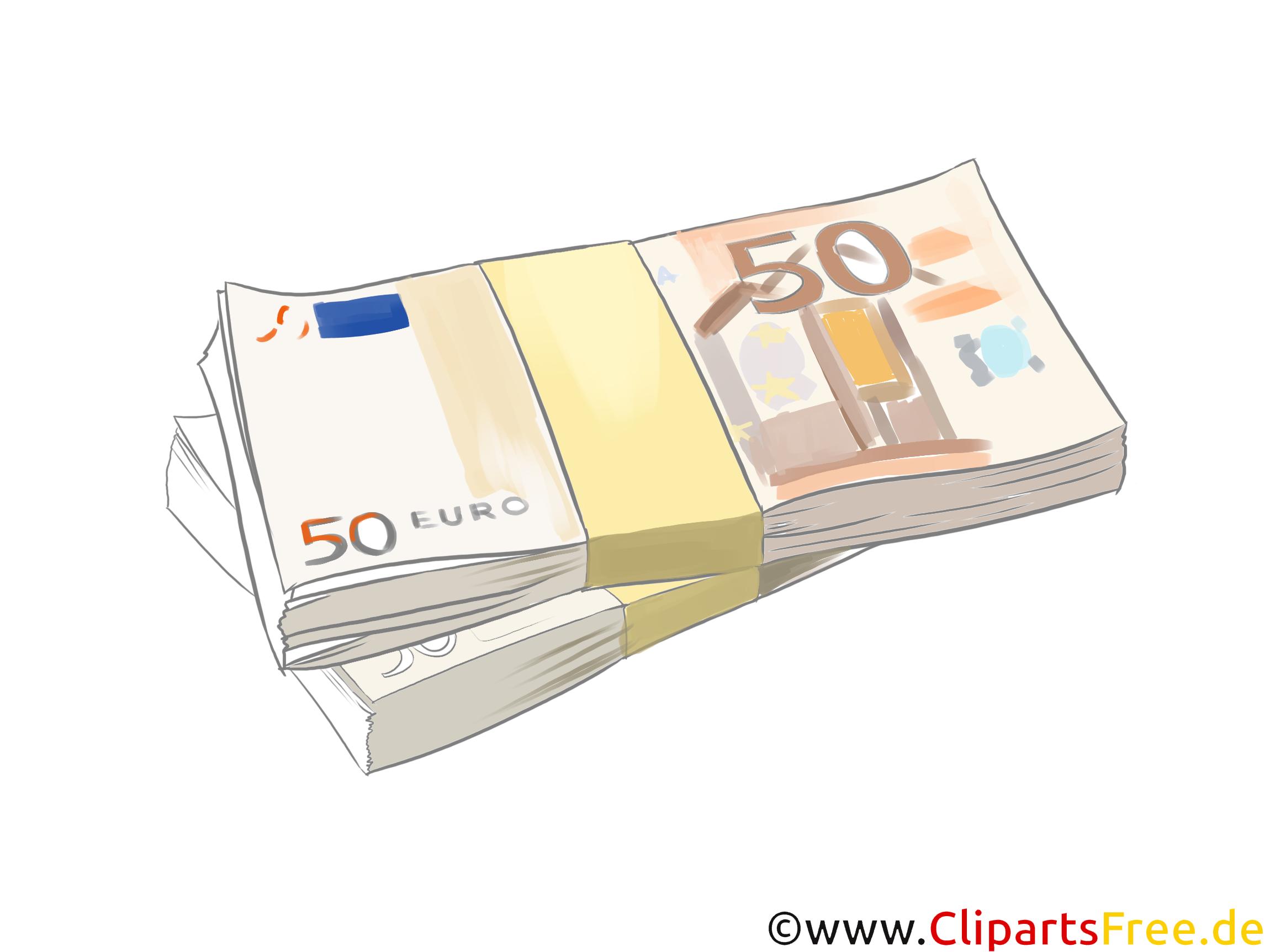 50 Euro Scheine Clipart, Bild, Grafik