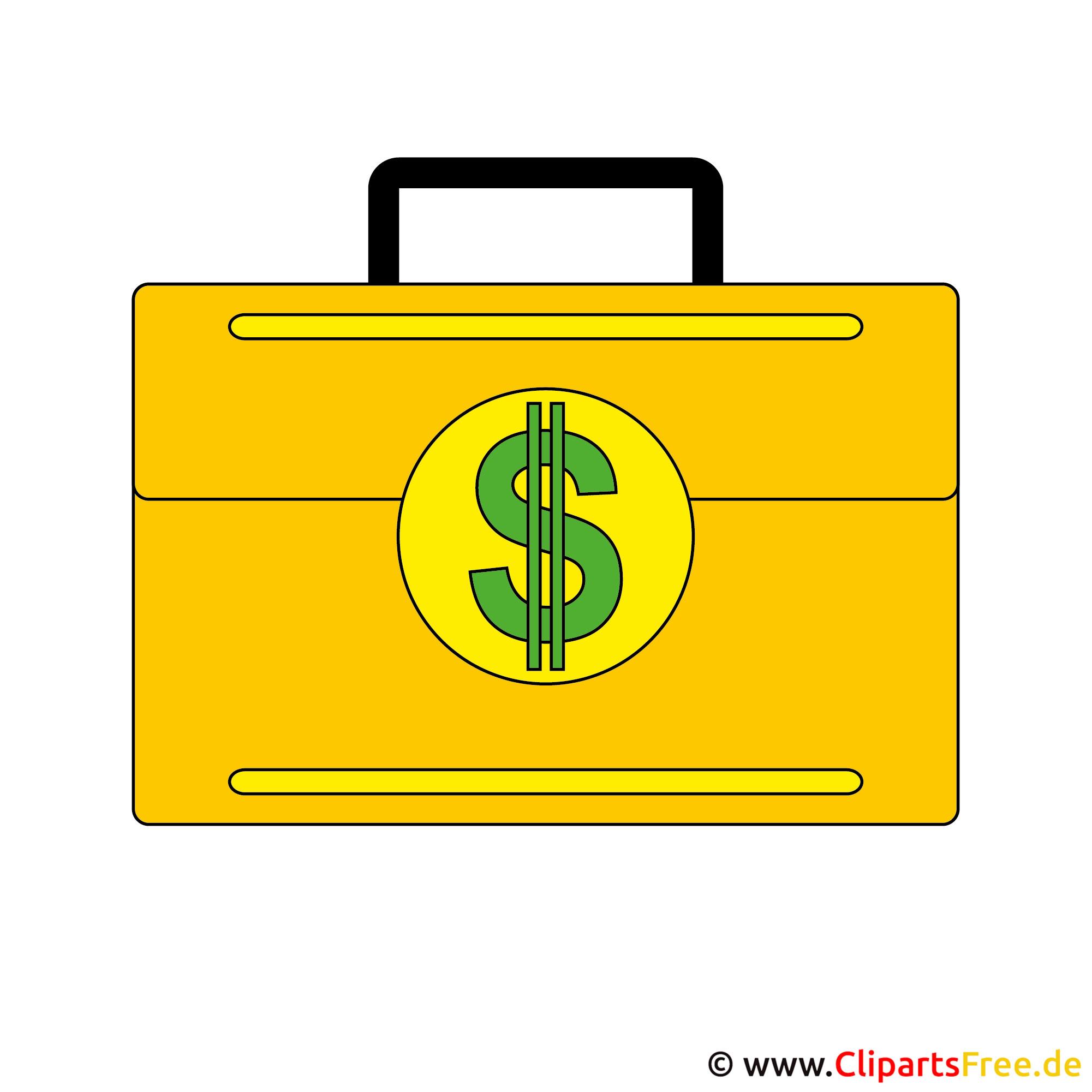 Clipart Geld im Koffer