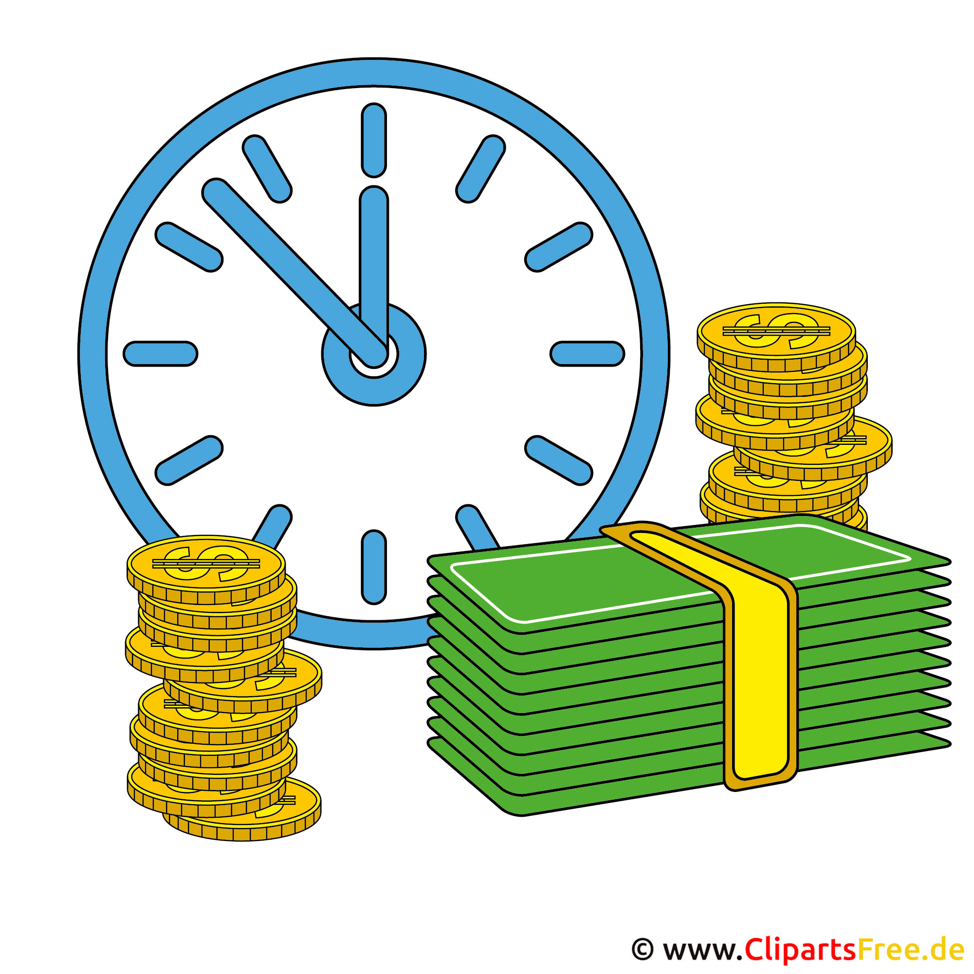 Time is Money Clip Art free