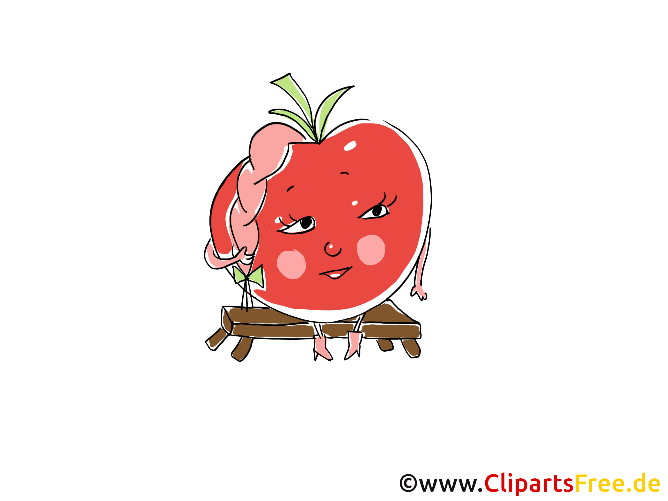 Cartoon Tomate