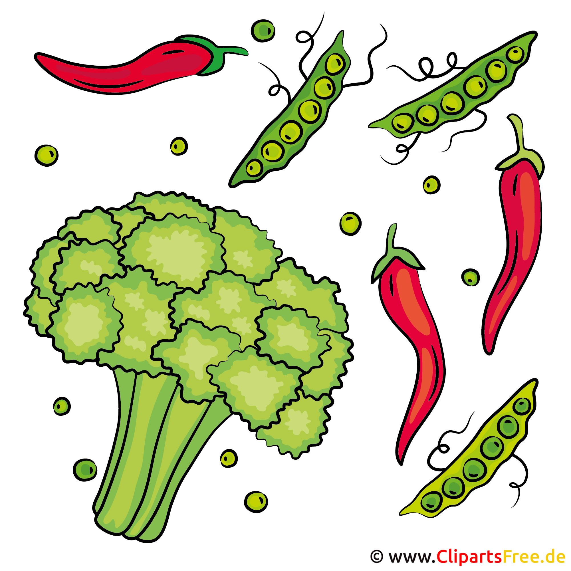Cartoons Gemüse kostenlos