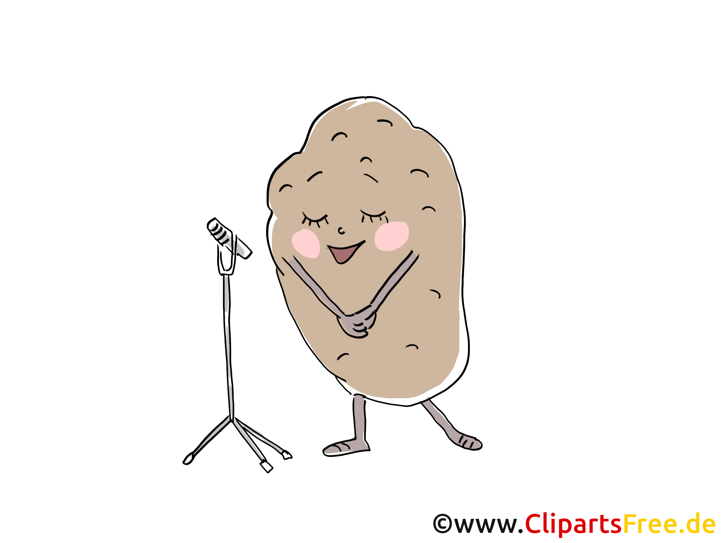 Kartoffel Clip Art, Illustration, Bild, Cartoon