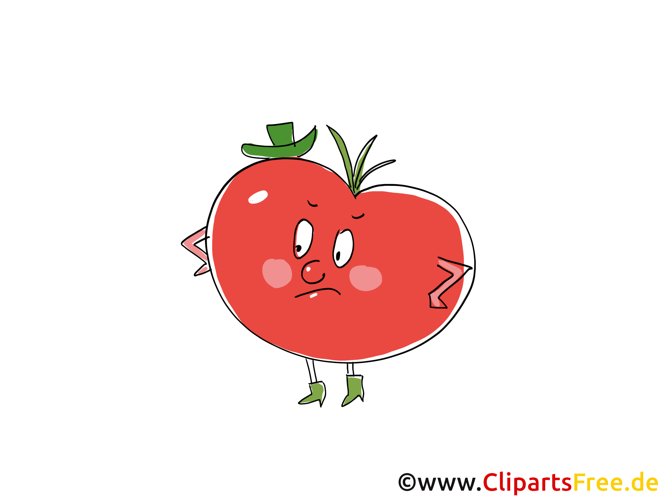 Tomate Clip Art, Illustration, Bild, Cartoon