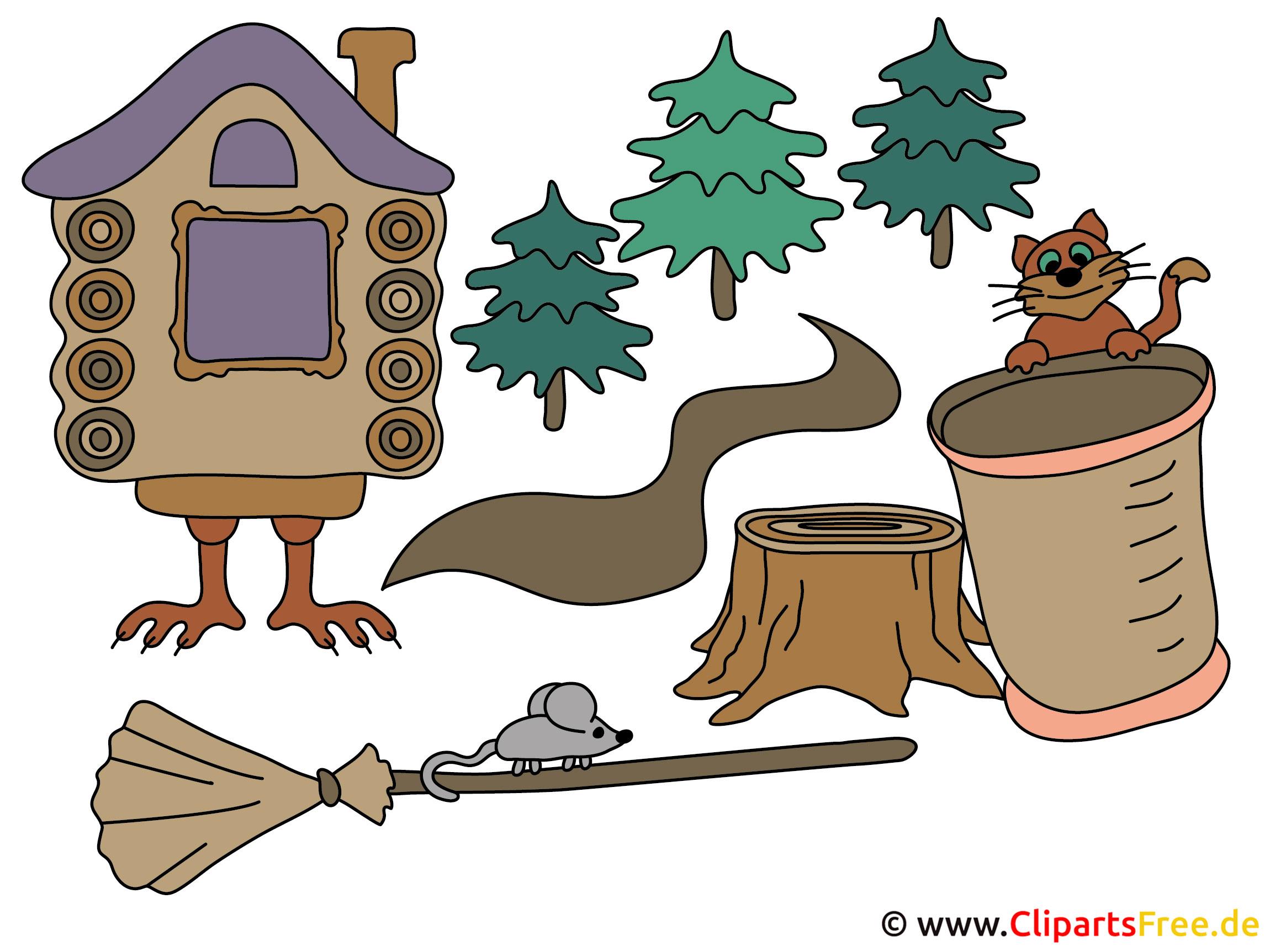 Baba Jaga Märchen Illustration