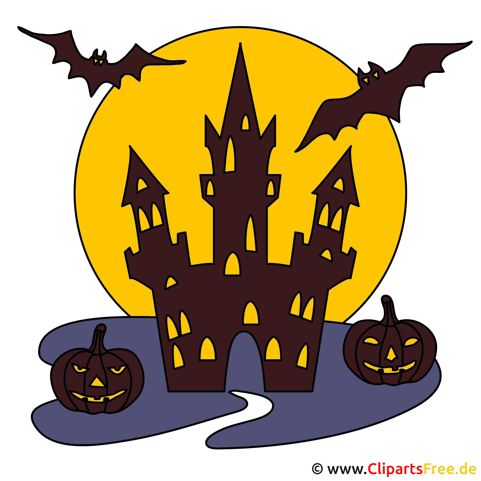 Burg Clipart - Gif zu Halloween