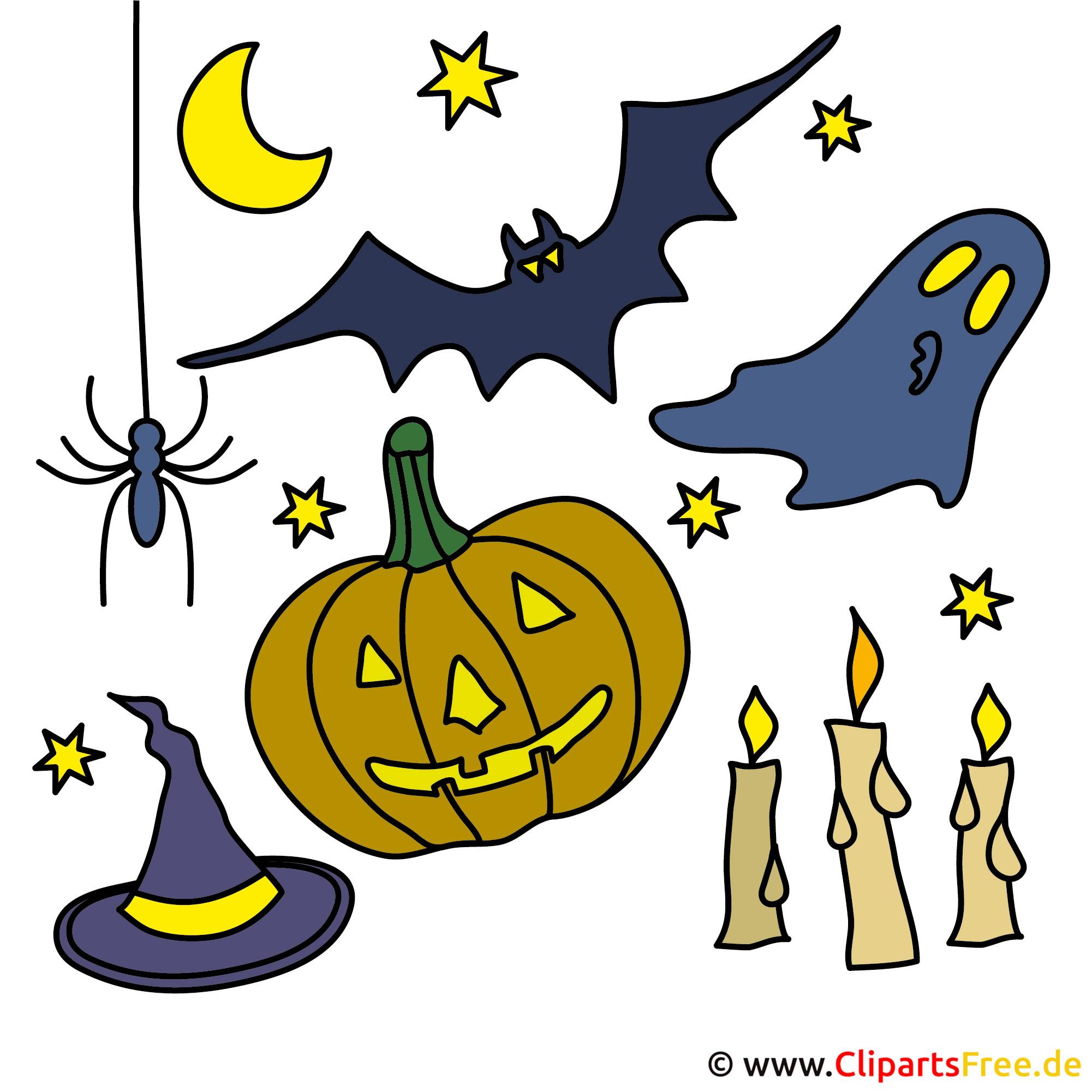 Clip Art zu Halloween gratis