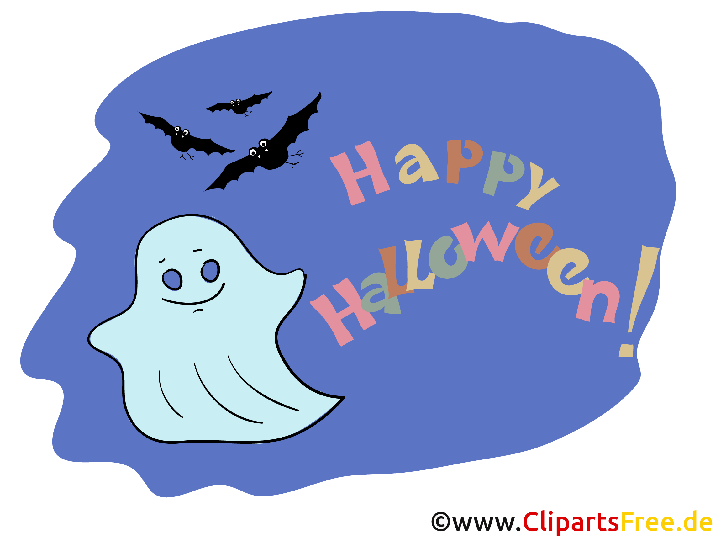 Gespenst Clipart zu Halloween