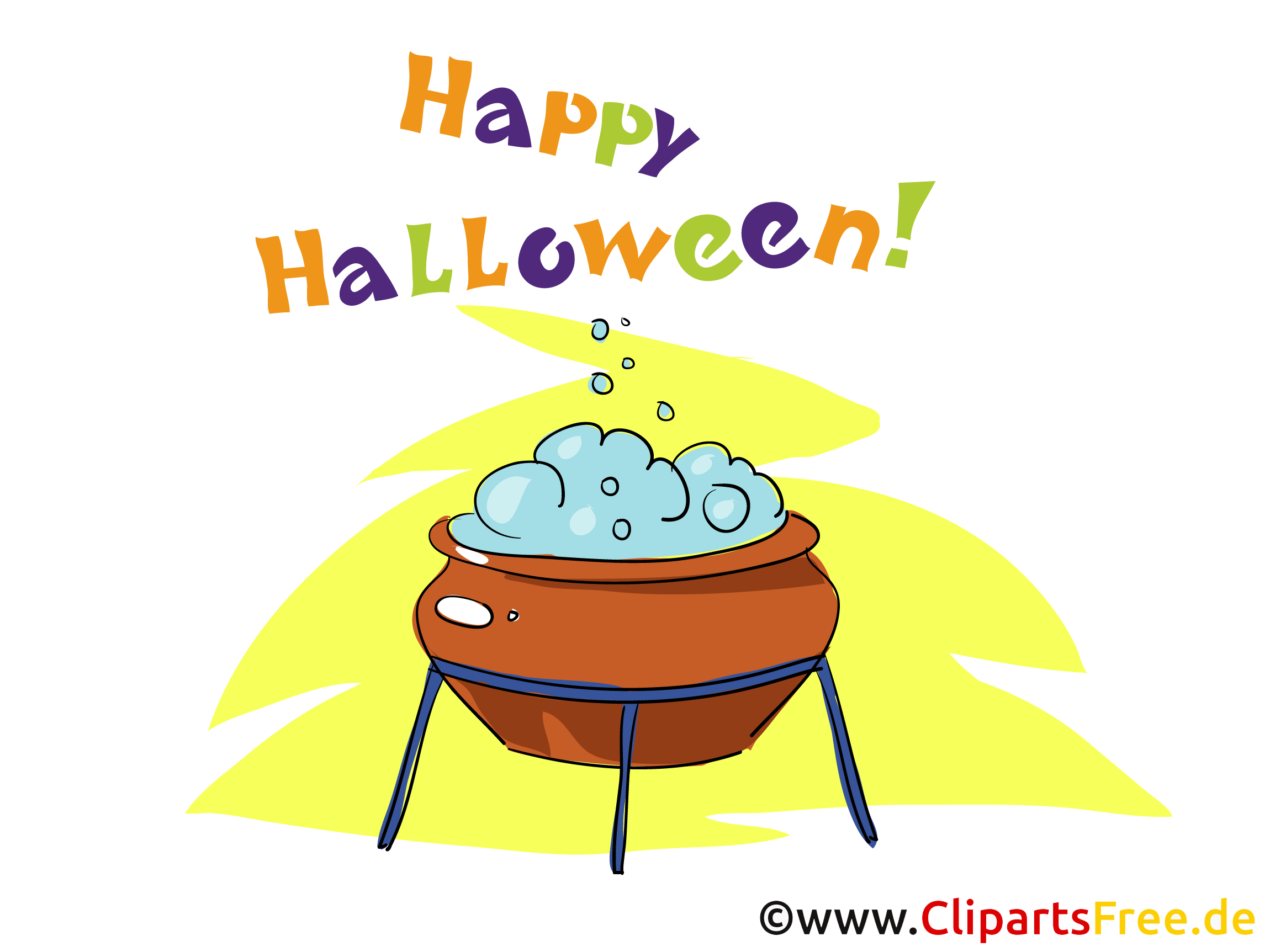 Hexenkessel Clipart, Bild, Cartoon zu Halloween