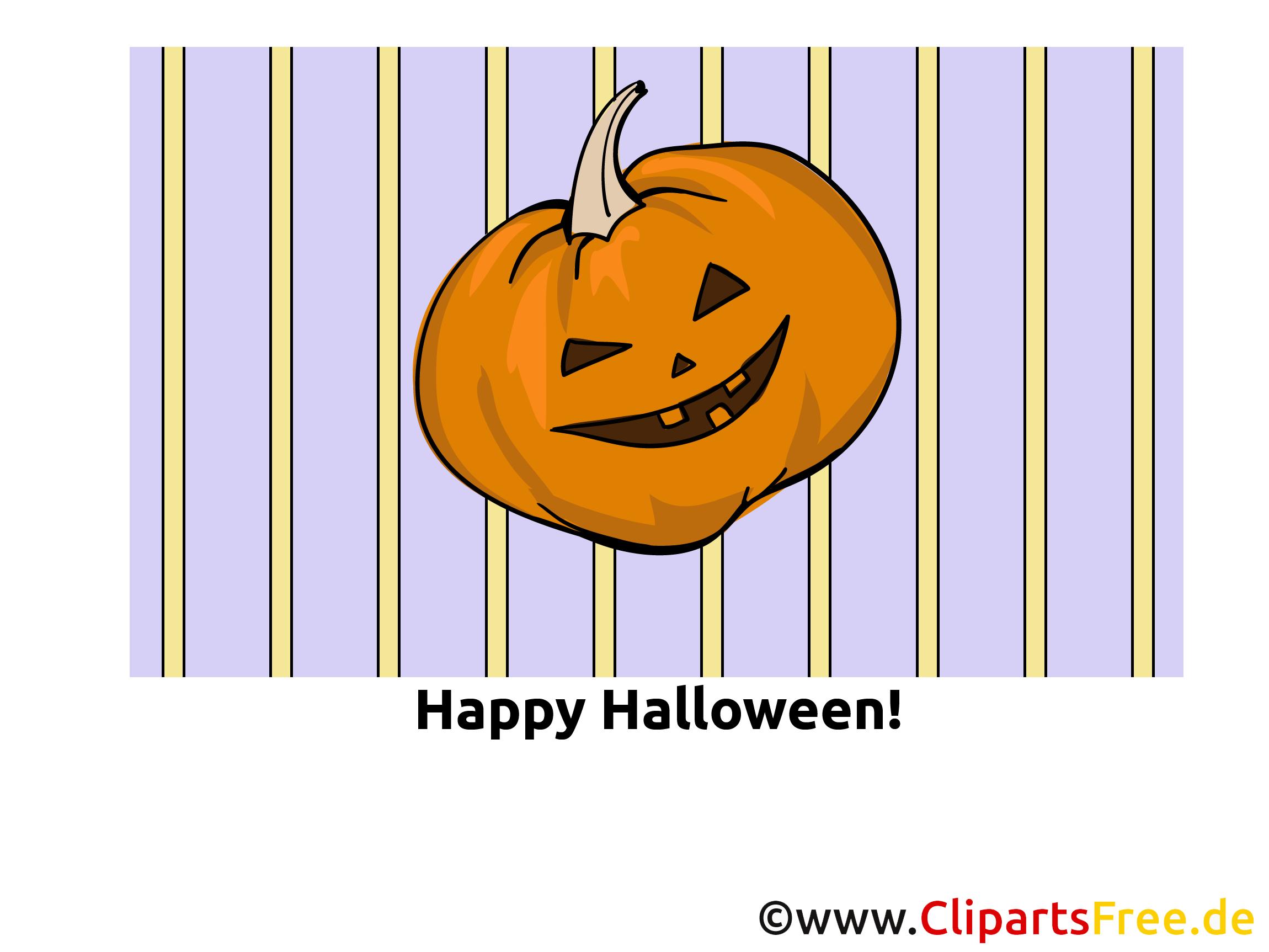 Kürbis Cartoon zu Halloween