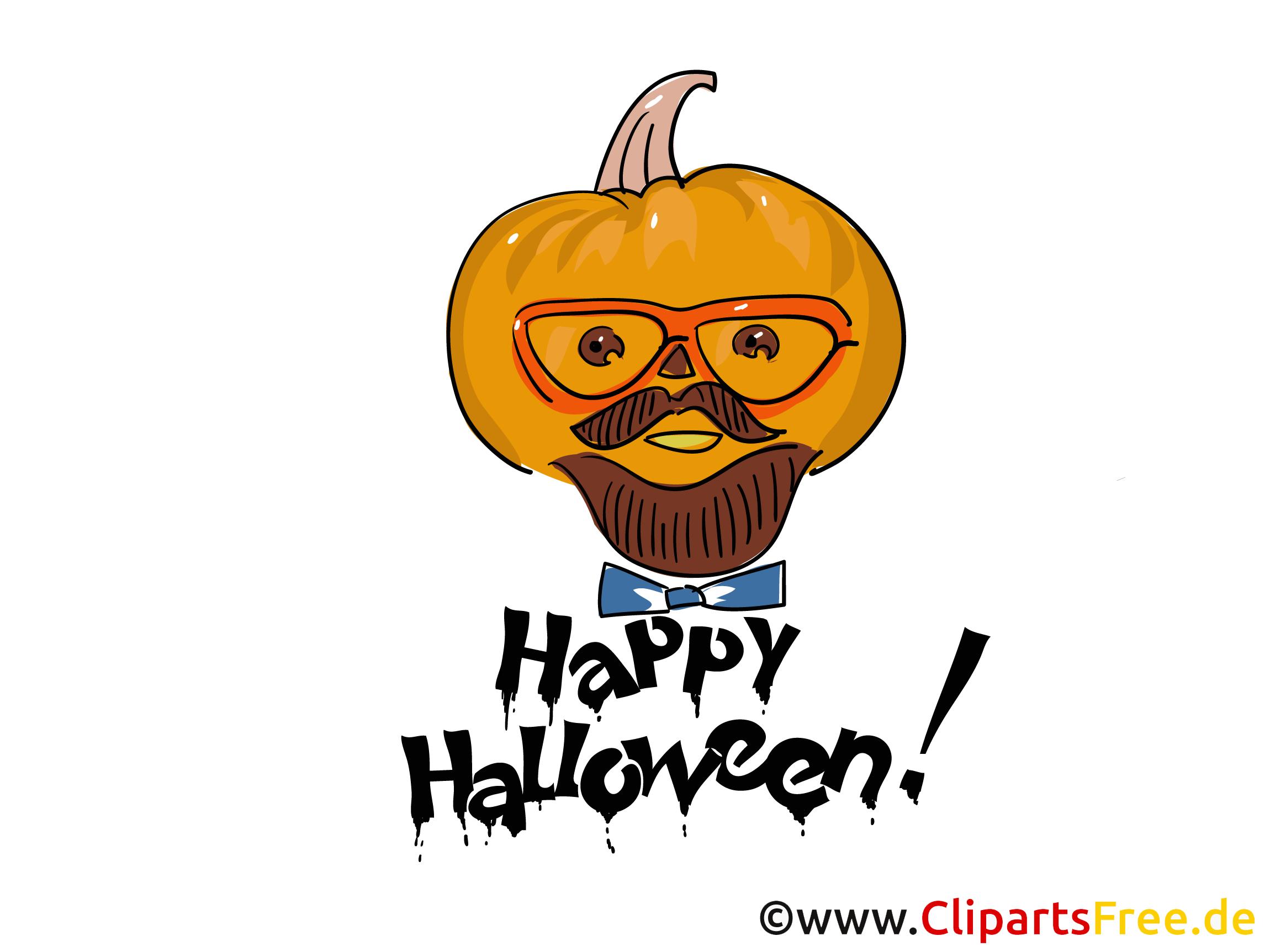 Lustiger Kürbis Clipart, Bild, Cartoon zu Halloween