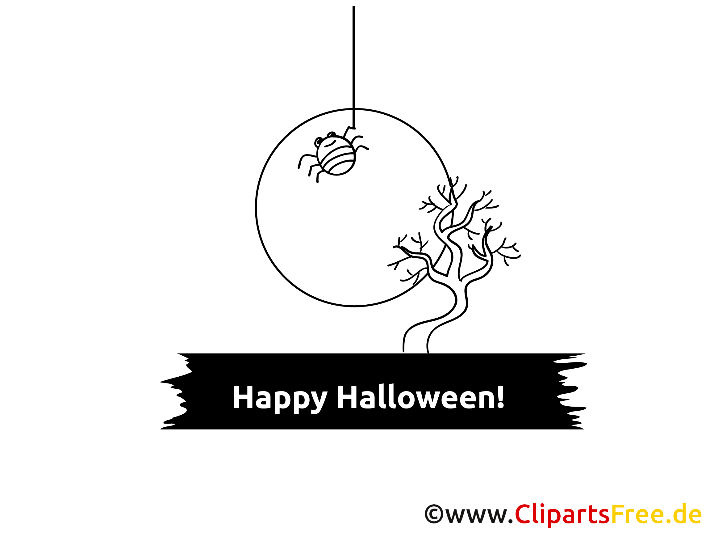 Schwarz-weisse Cliparts zu Halloween
