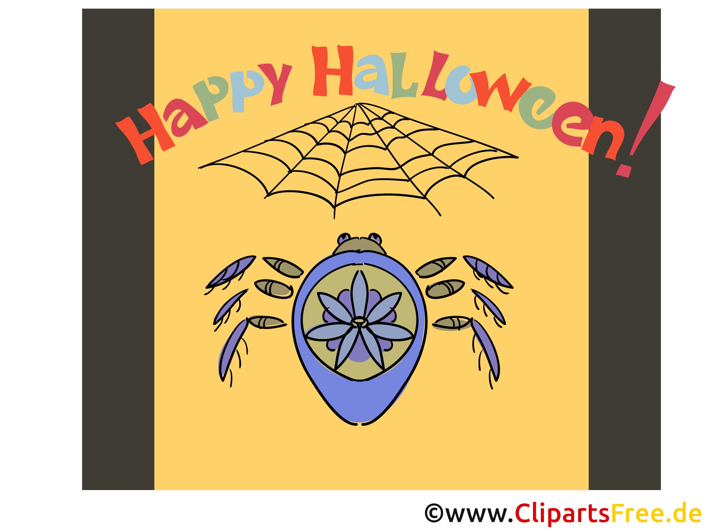 Spinne Cliparts zu Halloween