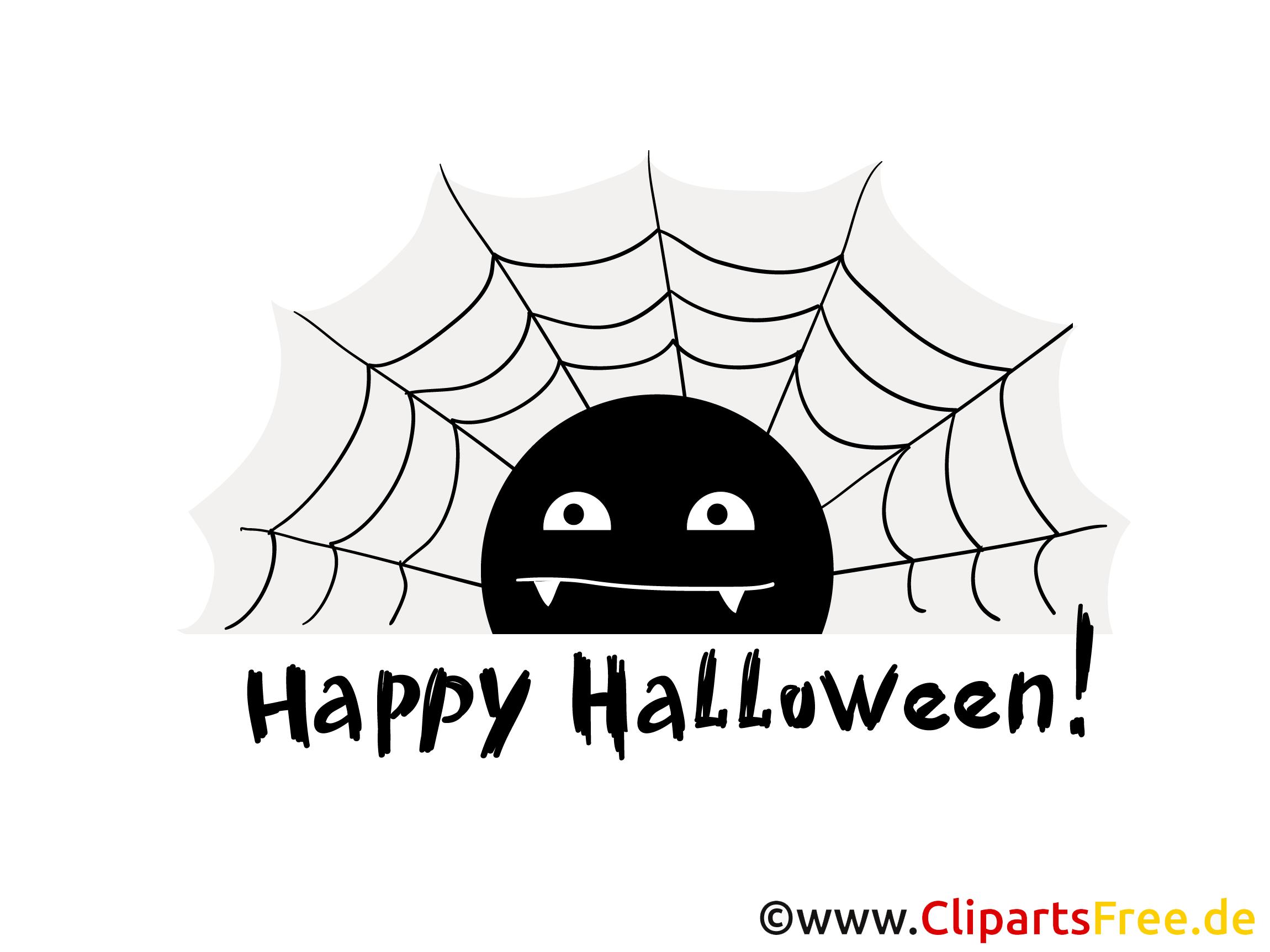 Spinnennetz Clipart, Bild, Cartoon zu Halloween
