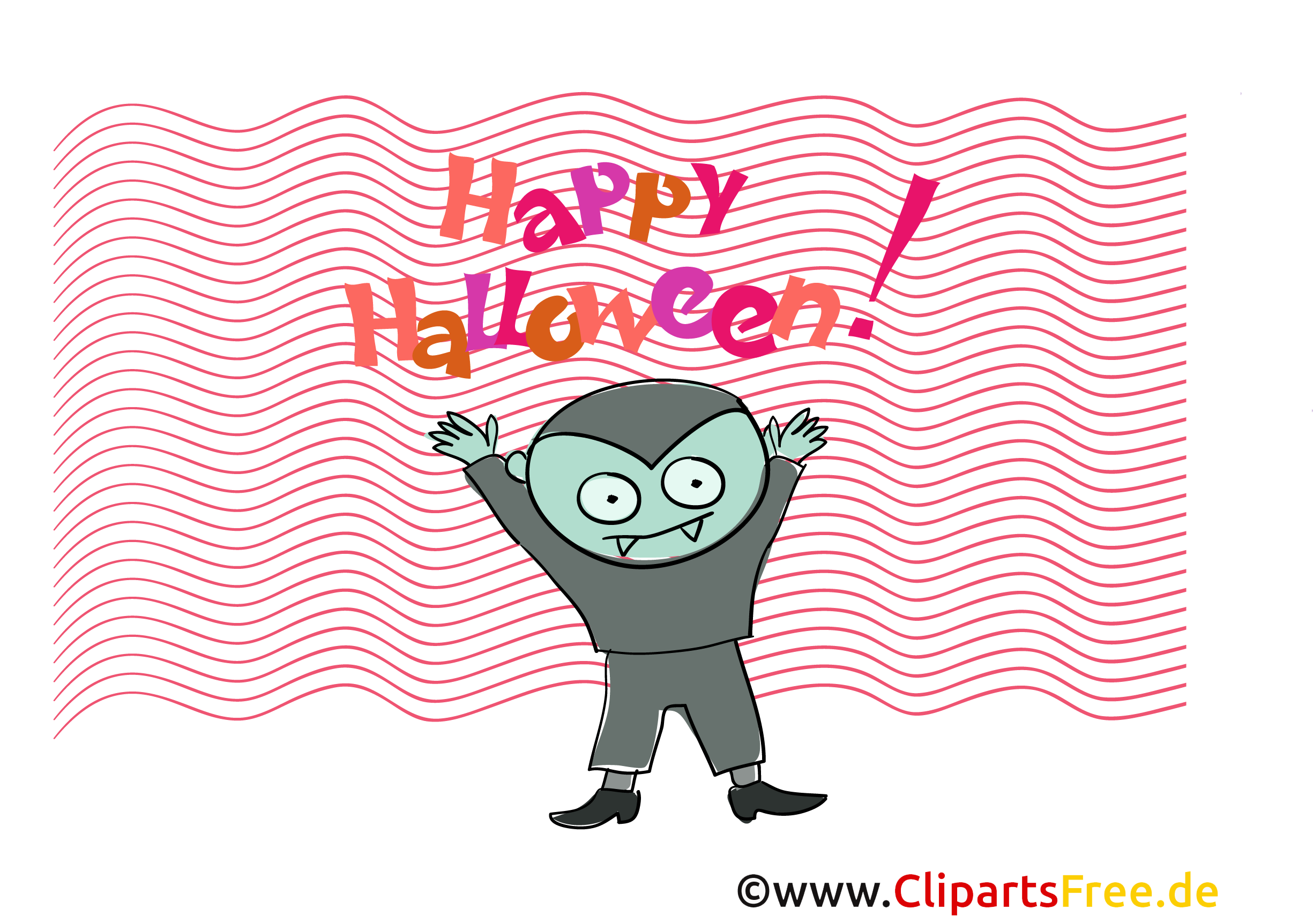 Vampir Clipart, Bild, Cartoon zu Halloween