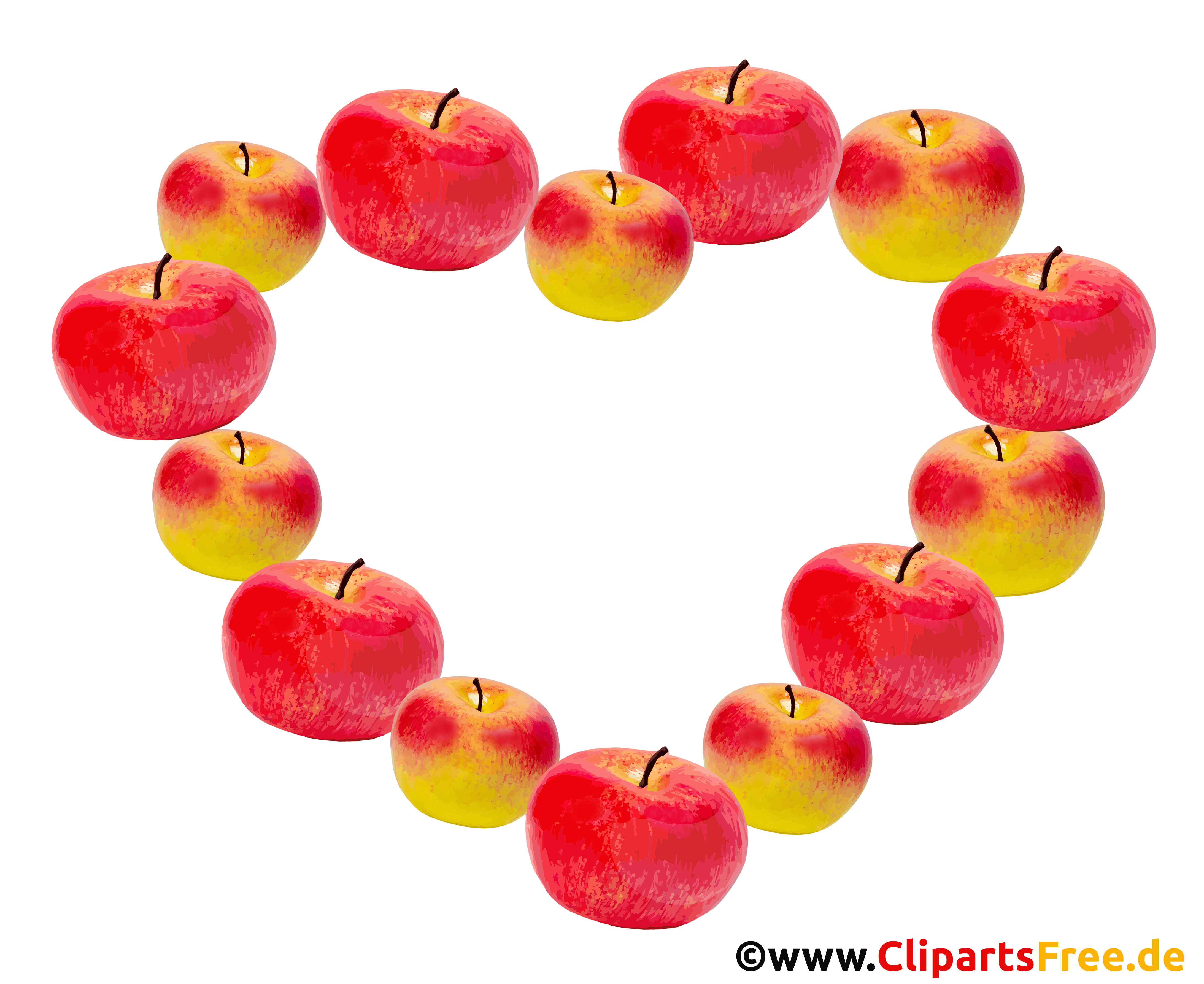 Bild-Rahmen aus Äpfeln - Herbst Bilder mit transparentem Hintergrund