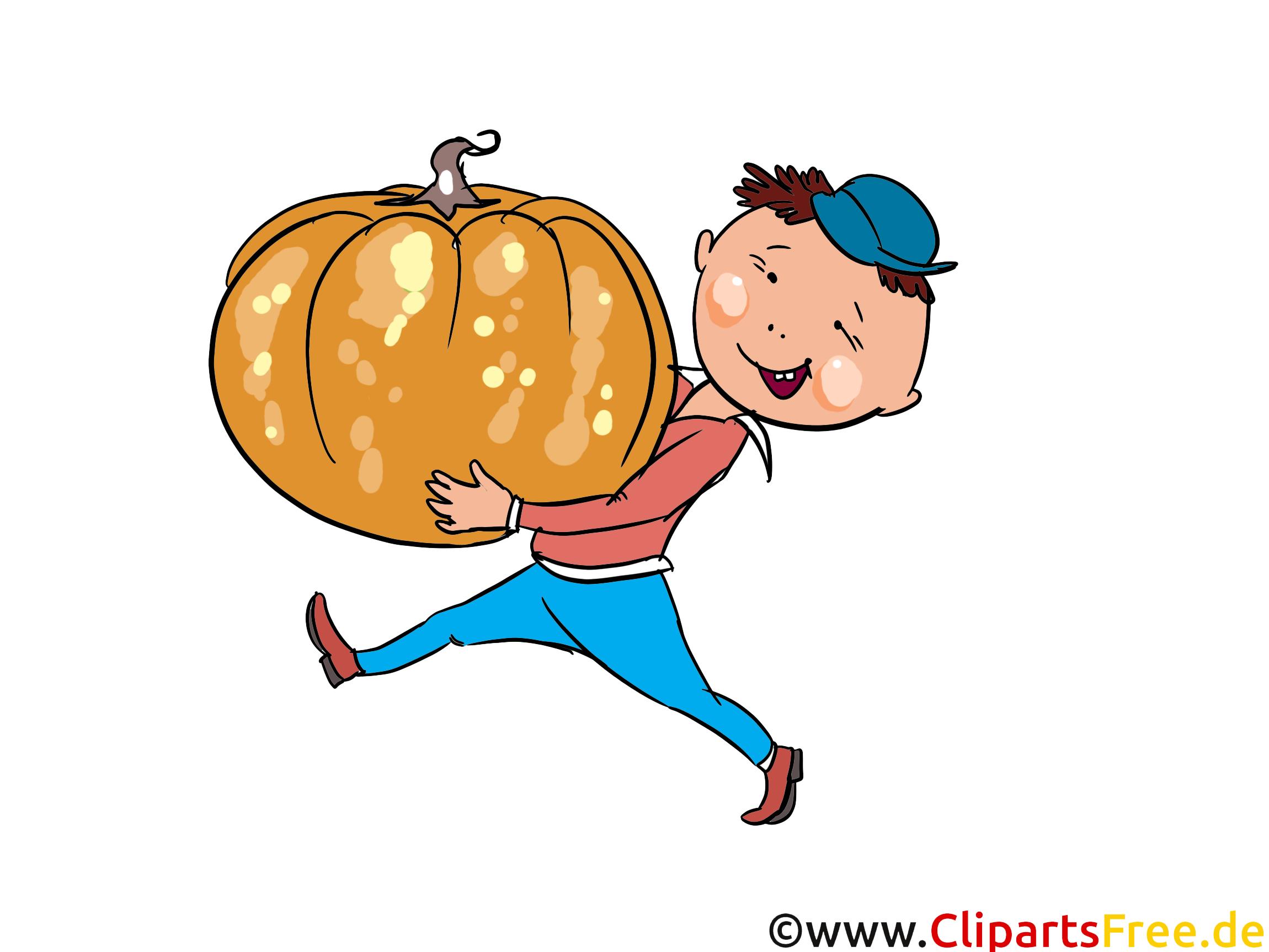 Bilder vom Herbst  - Bauer mir Kürbis