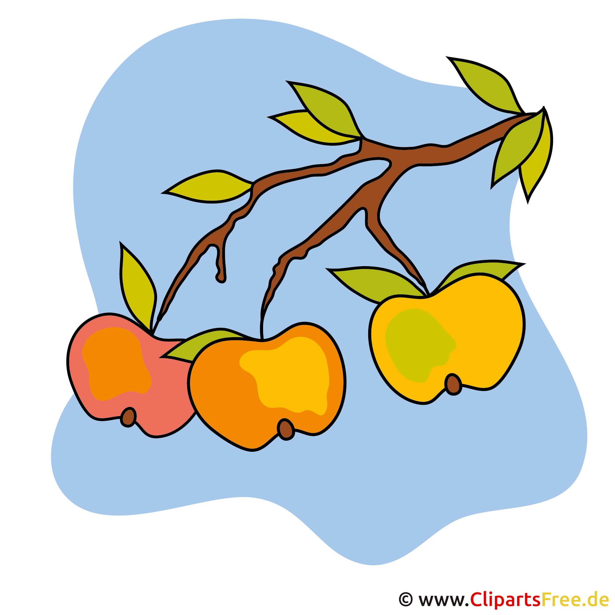 Cartoon Äpfel - Kostenlose lizenzfreie Bilder zu Herbst