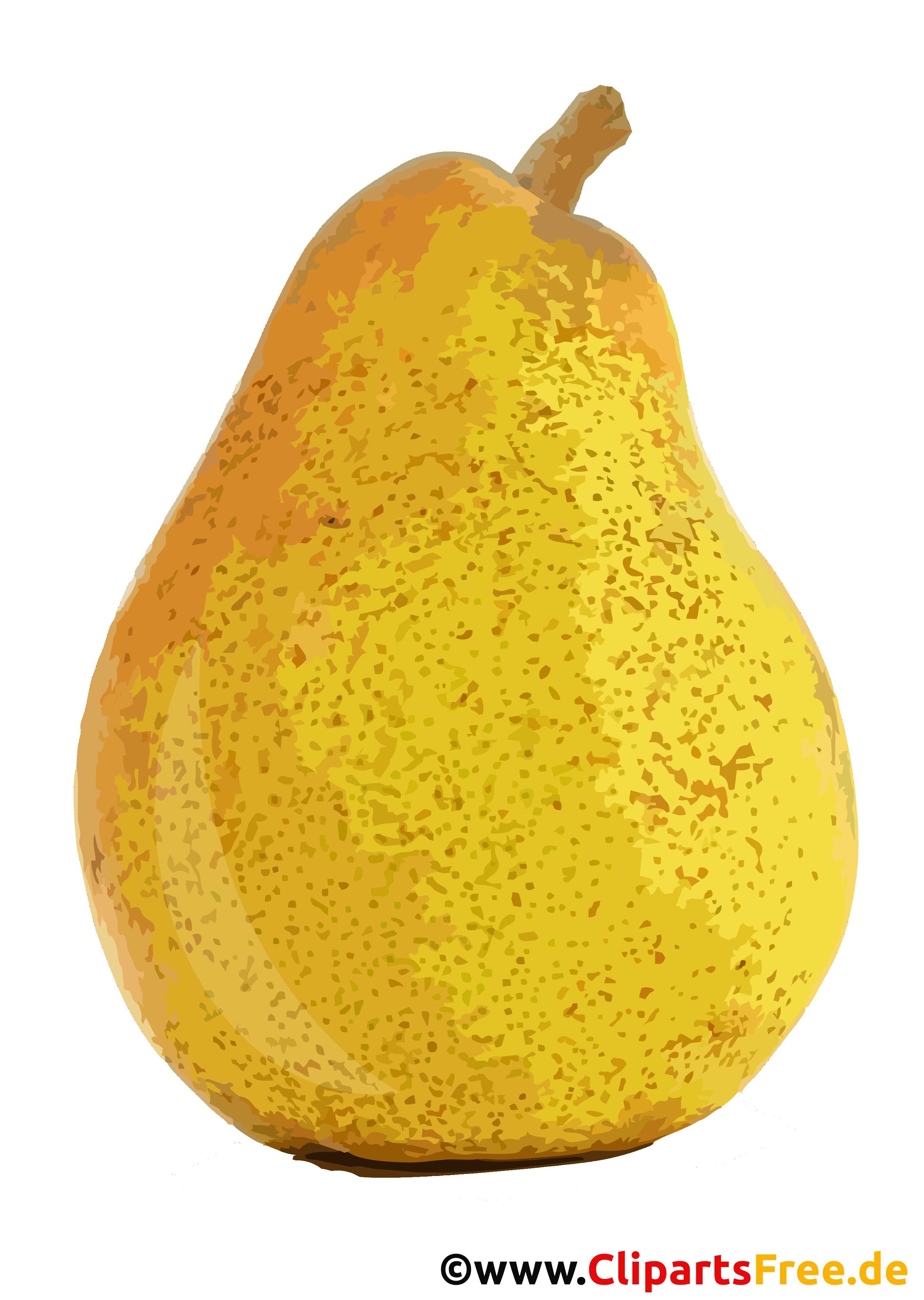 Gelbe Birne Clipart, Illustration, Bild transparent