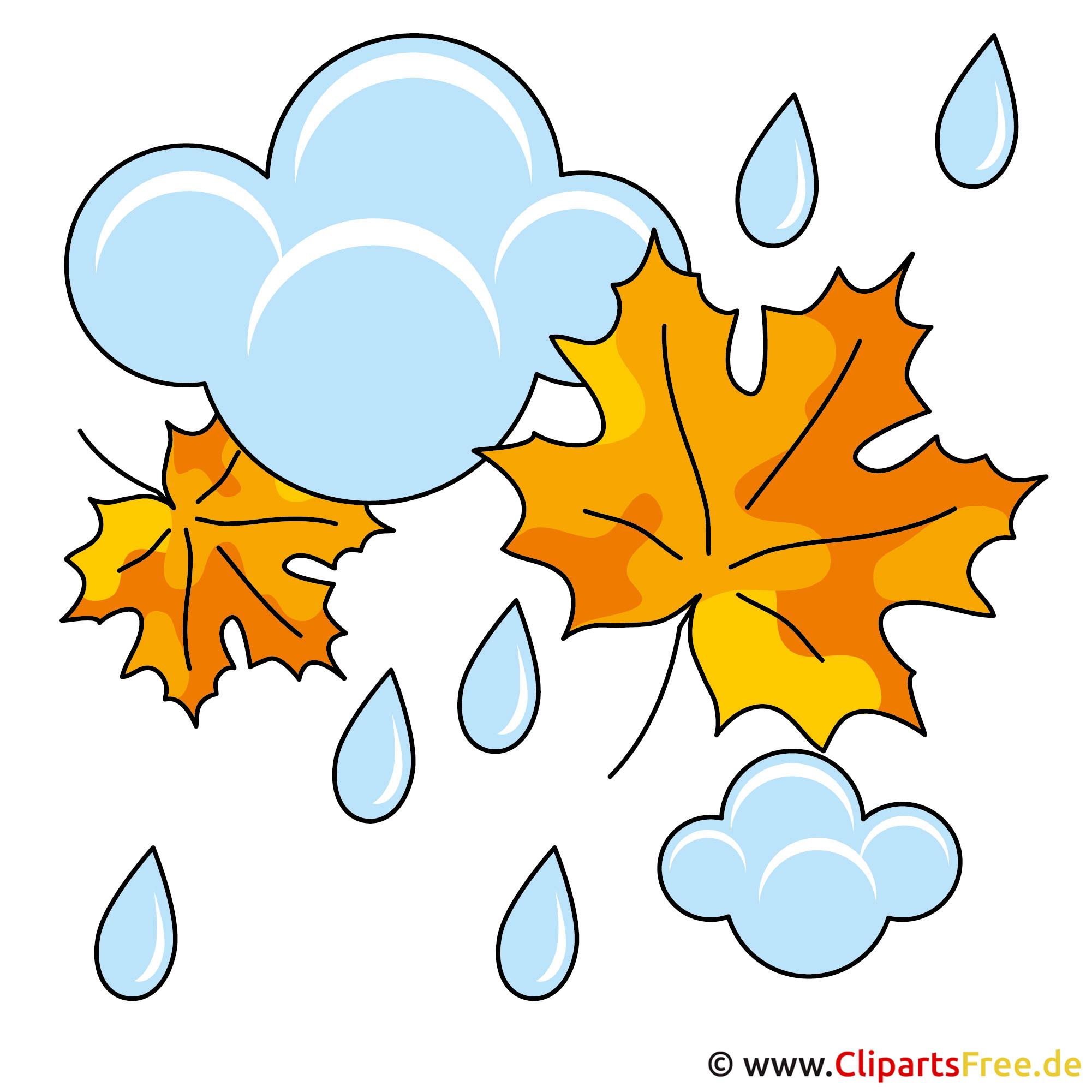 Herbst Bilder -  Regen Clipart gratis
