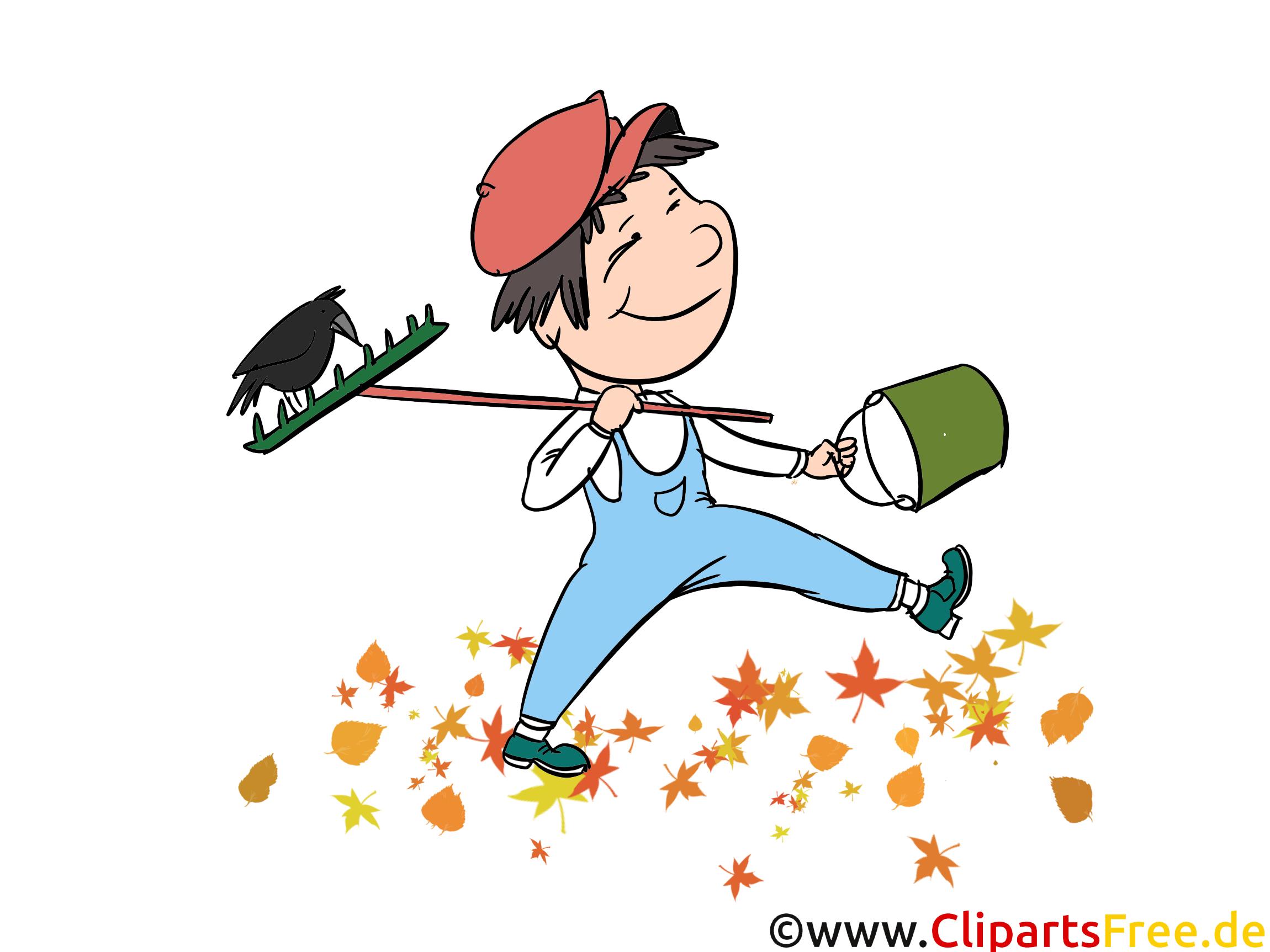 Kleiner Gärtner Illustration, Grafik, Comic, Cartoon, Clipart