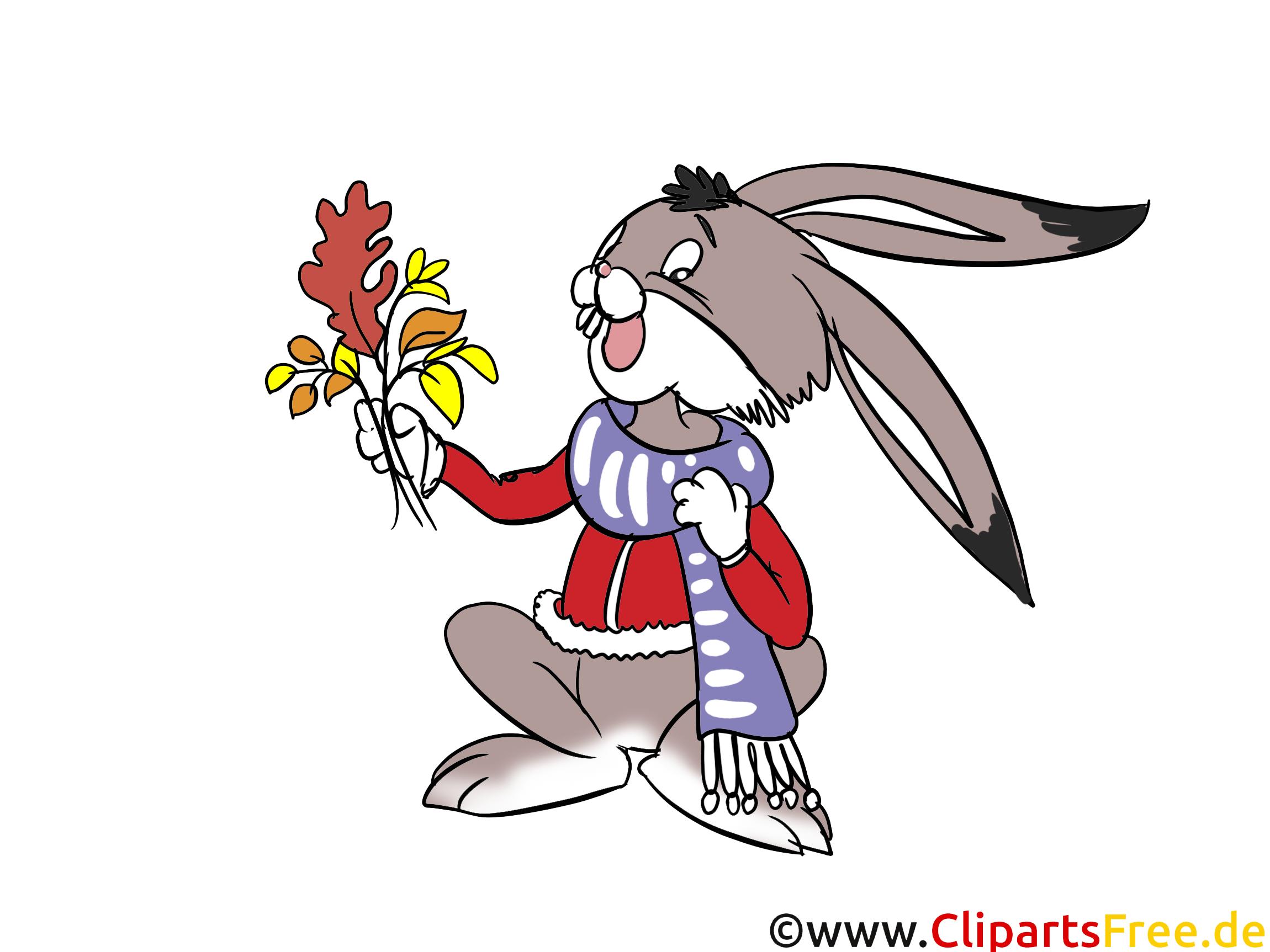 Lustiger Hase, Kaninachen Clipart, Cartoon, Comic, Illustration