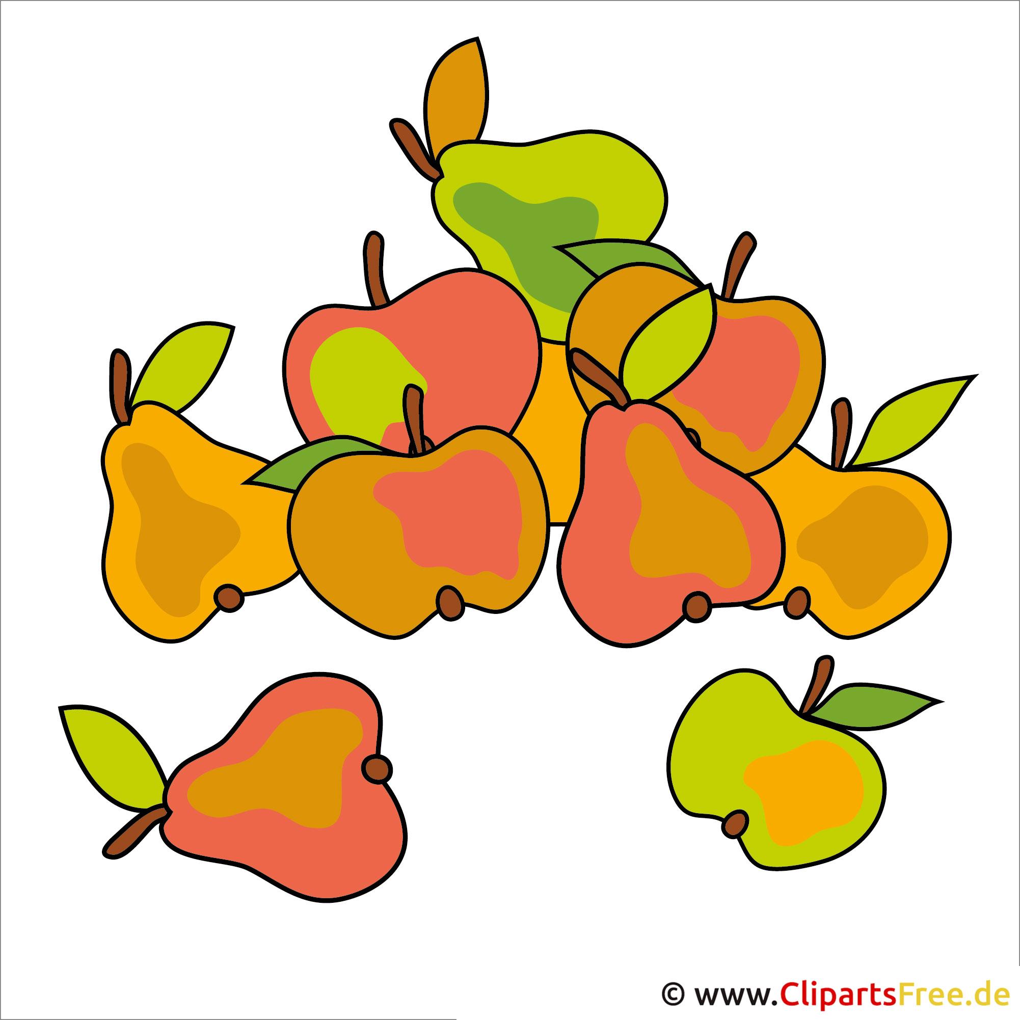 Obst, Ernte, Garten Clipart - Kostenlose lizenzfreie Bilder zu Herbst