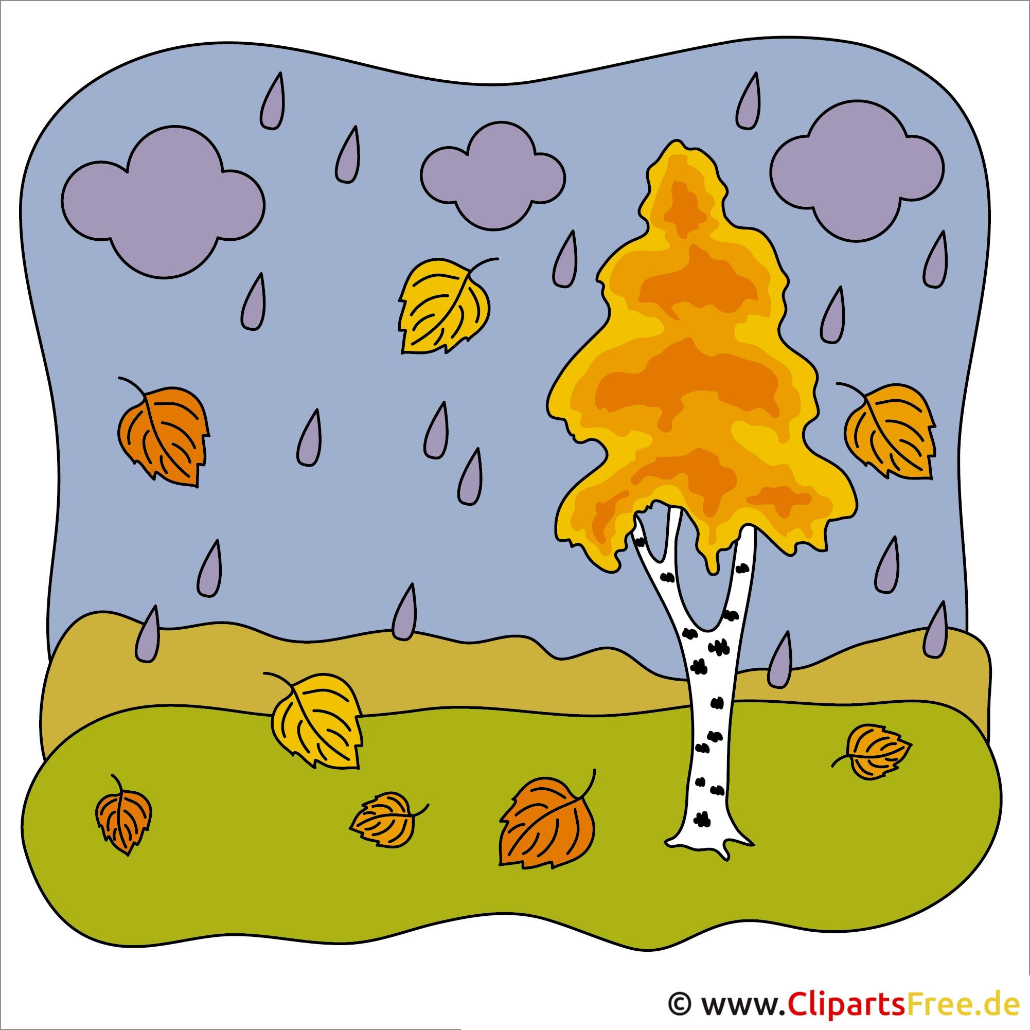 Regen Clipart - Herbst Bilder