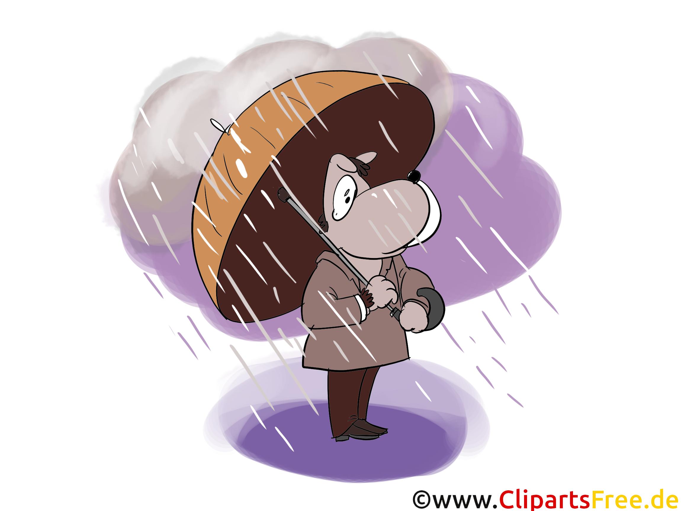 Unwetter Clipart, Comic, Cartoon, Bild, Grafik
