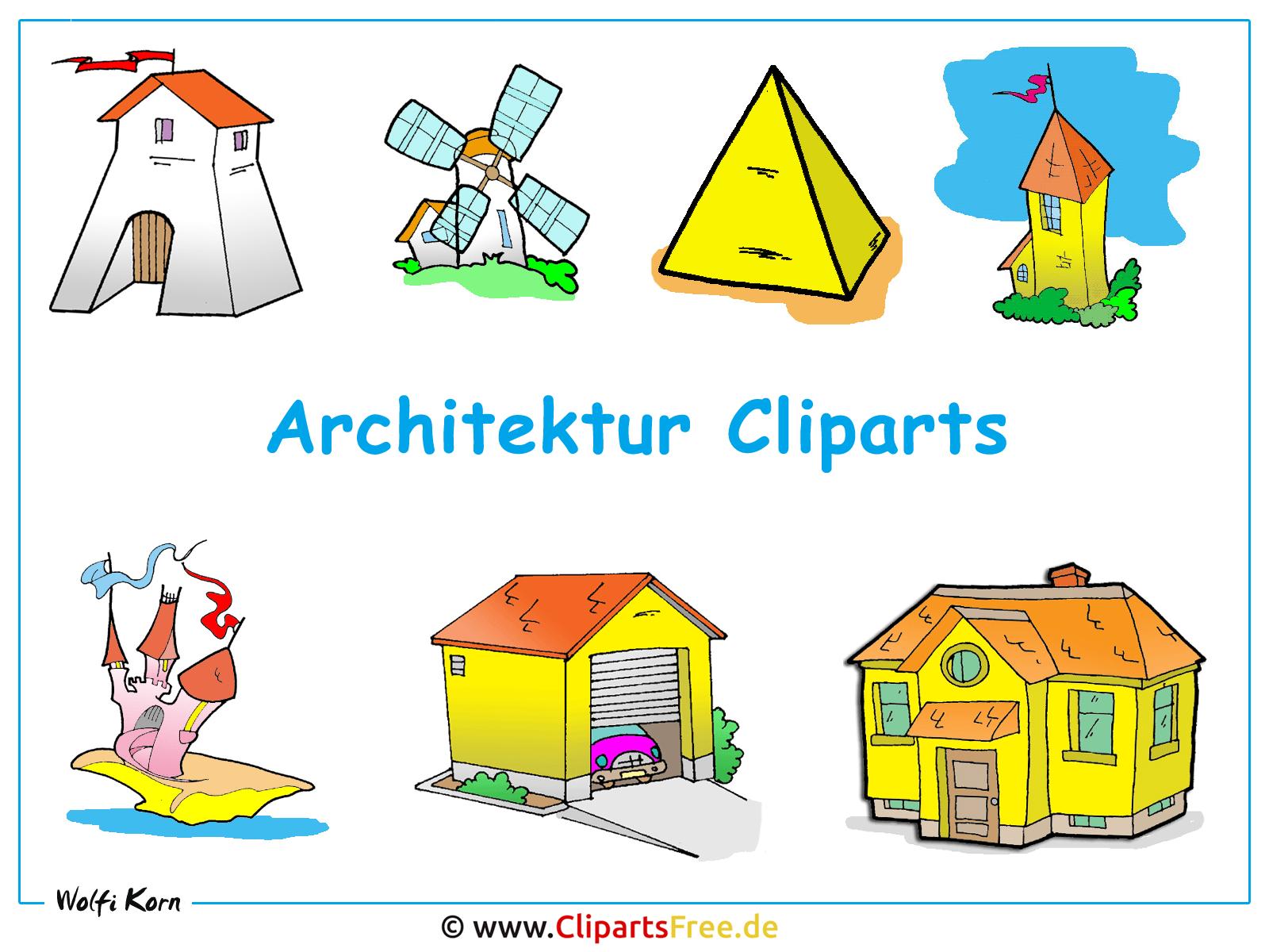 Haus baustelle clipart  Architektur Bilder Clipart - Desktopbild kostenlos