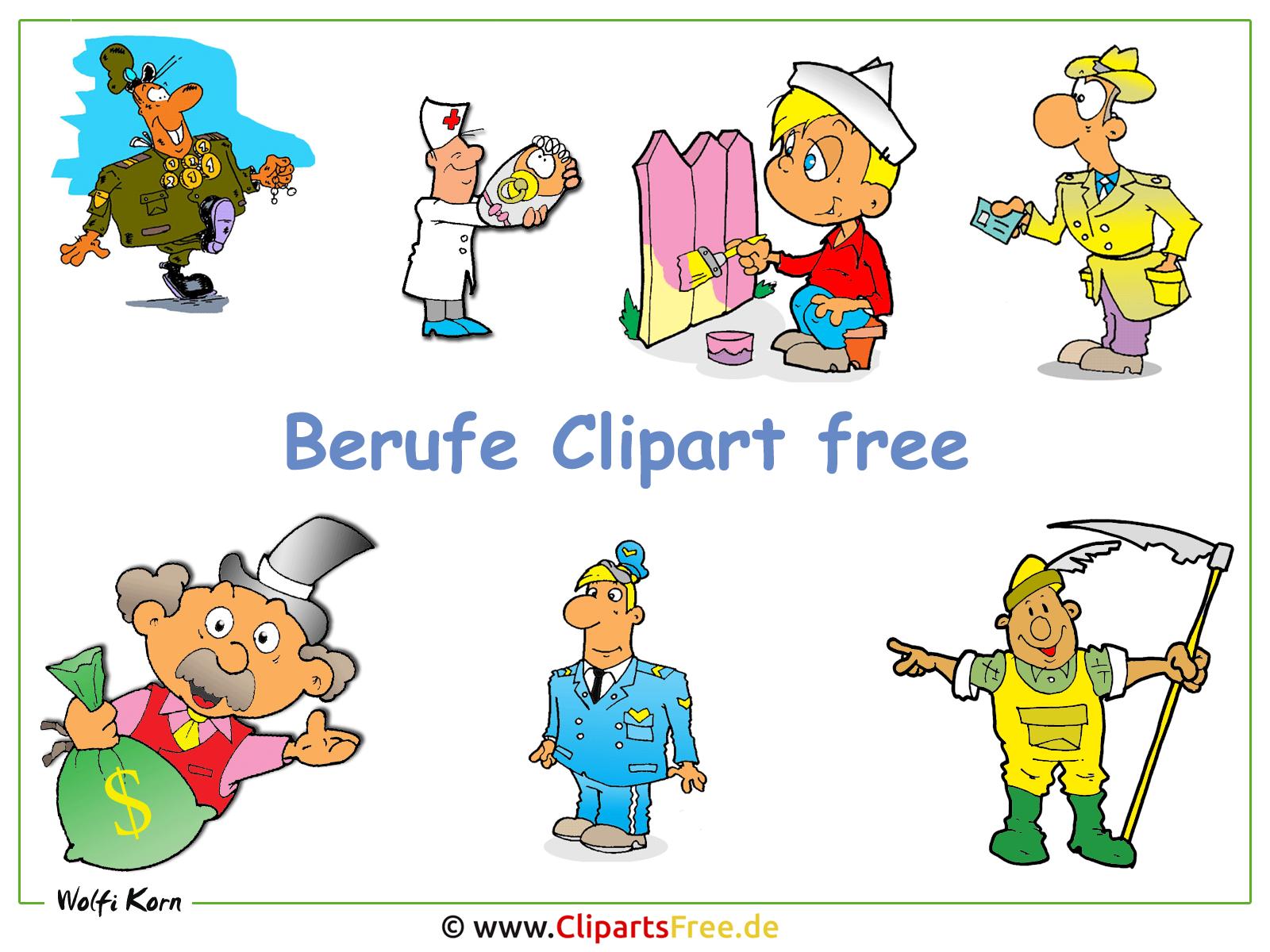 Cliparts Berufe