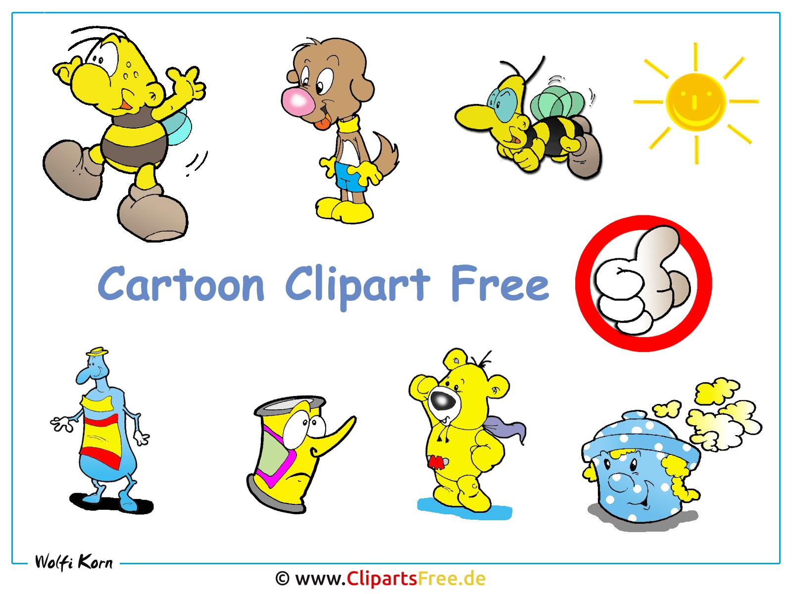 Cliparts kostenlos im Cartoonstil - Kostenloses Hintergrundbild