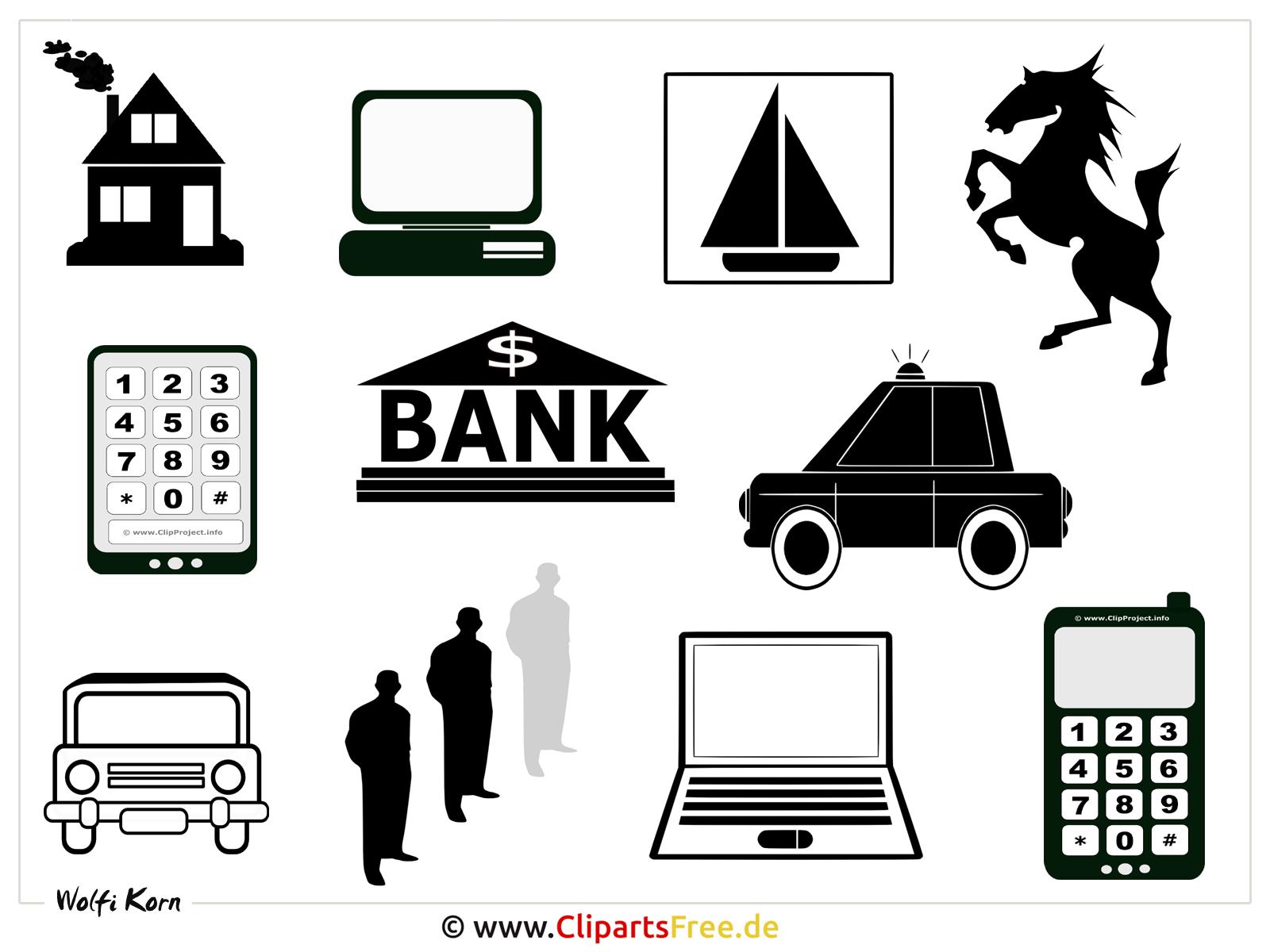 Piktogrammen Clipart-Bilder - Hintergrundbild in Hochaufloesung