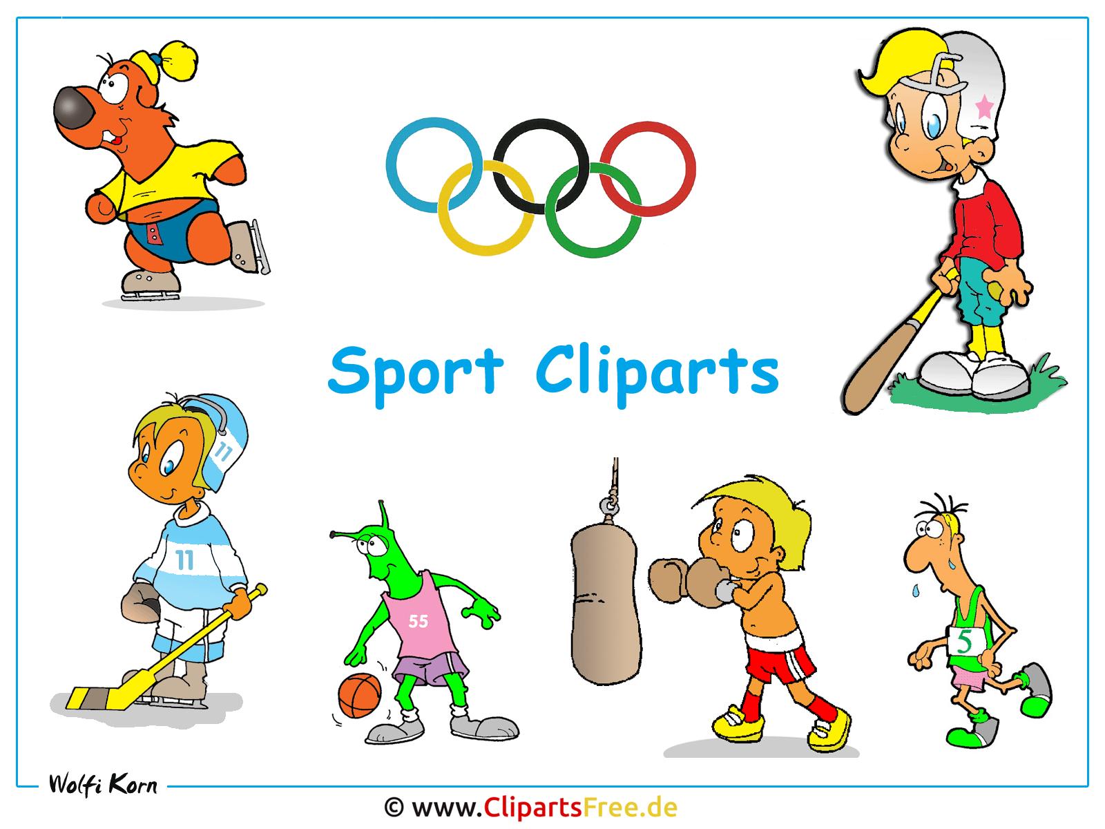 Sport Cliparts kostenlos - Desktop Bild