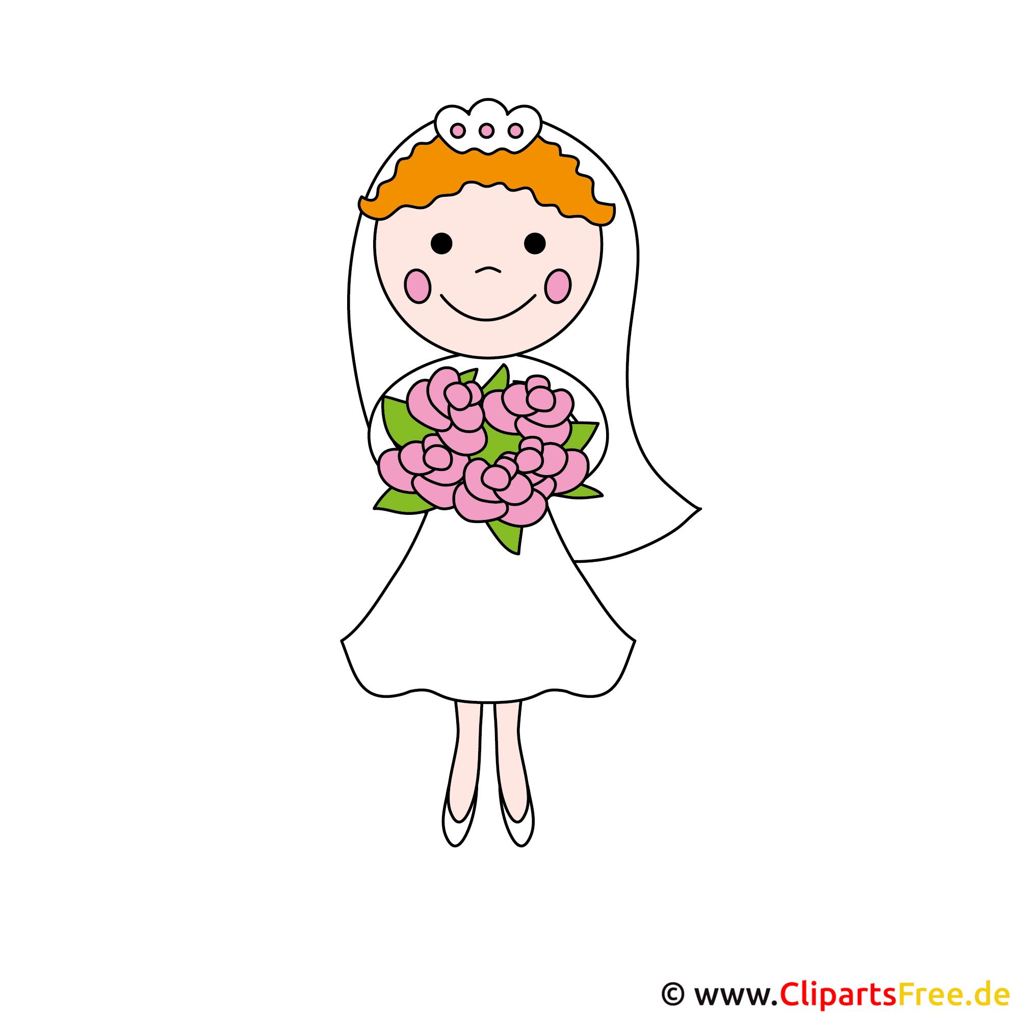 Braut Cartoonbild kostenlos