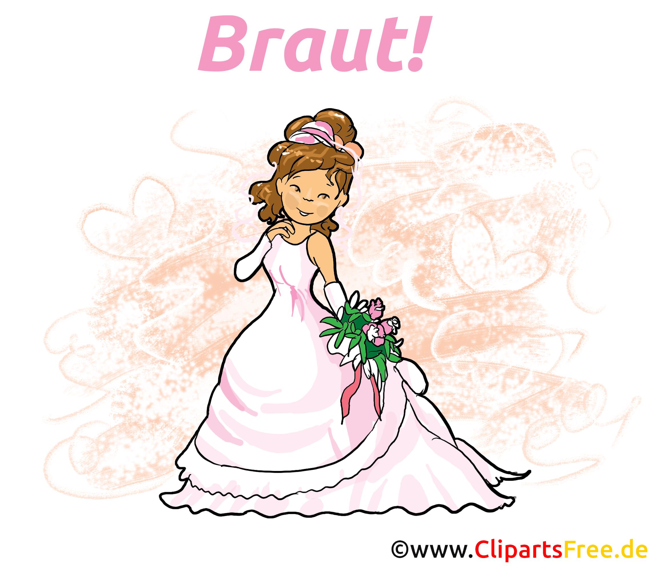 braut clipart hochzeit bild illustration