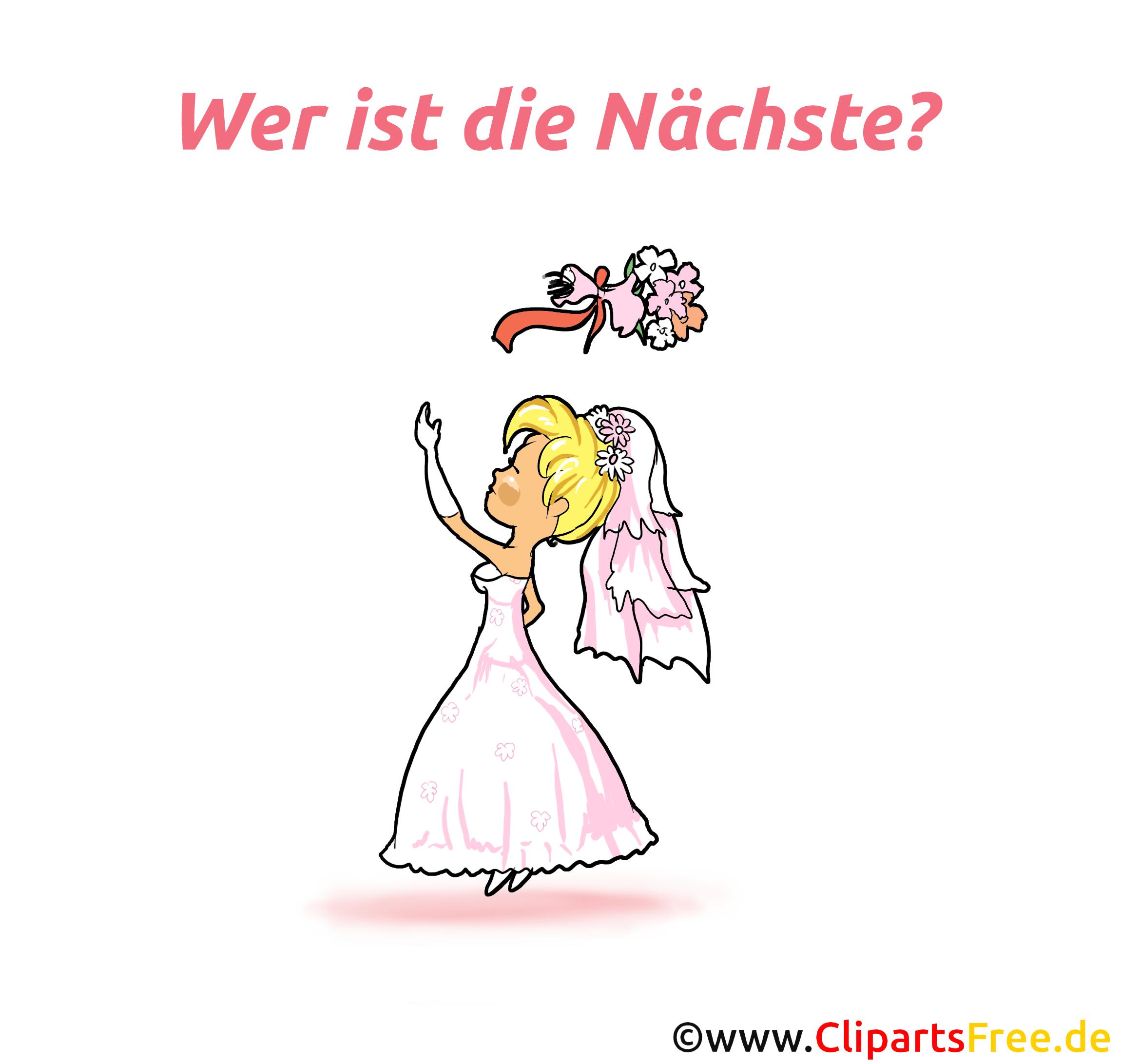 Brautstrauss werfen - Bild, Clipart, Cartoon, Grafik gratis