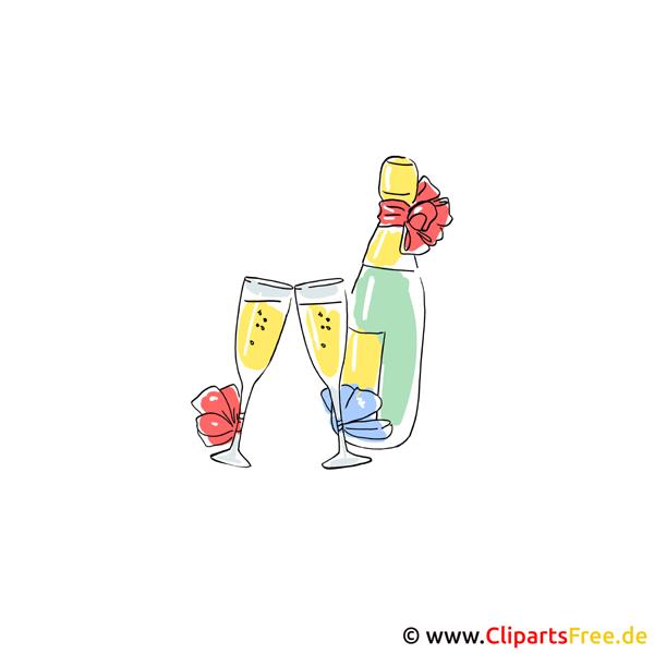 Champagner Clipart Bilder kostenlos