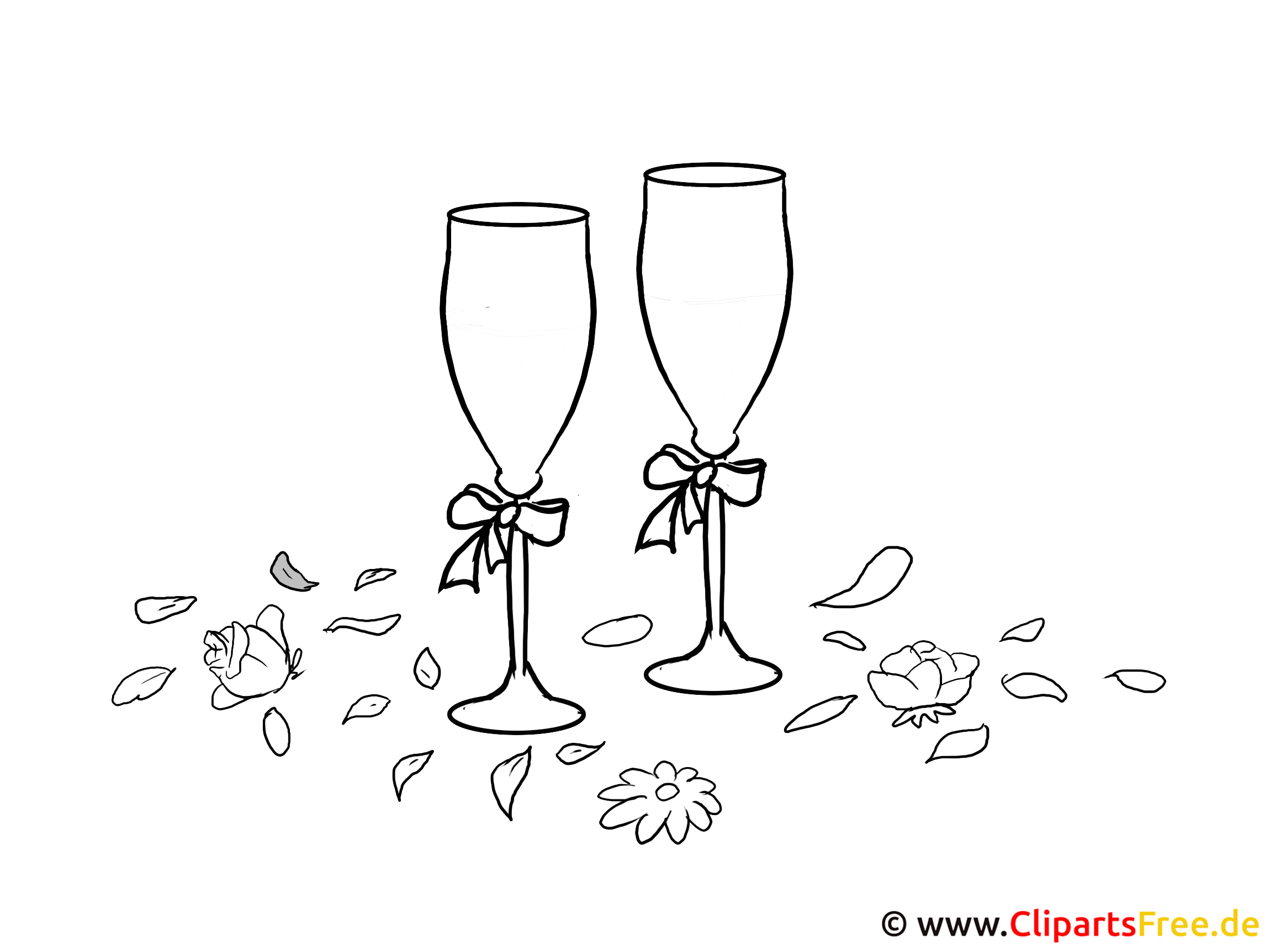 champagnergl ser illustration clipart grafik schwarz wei. Black Bedroom Furniture Sets. Home Design Ideas
